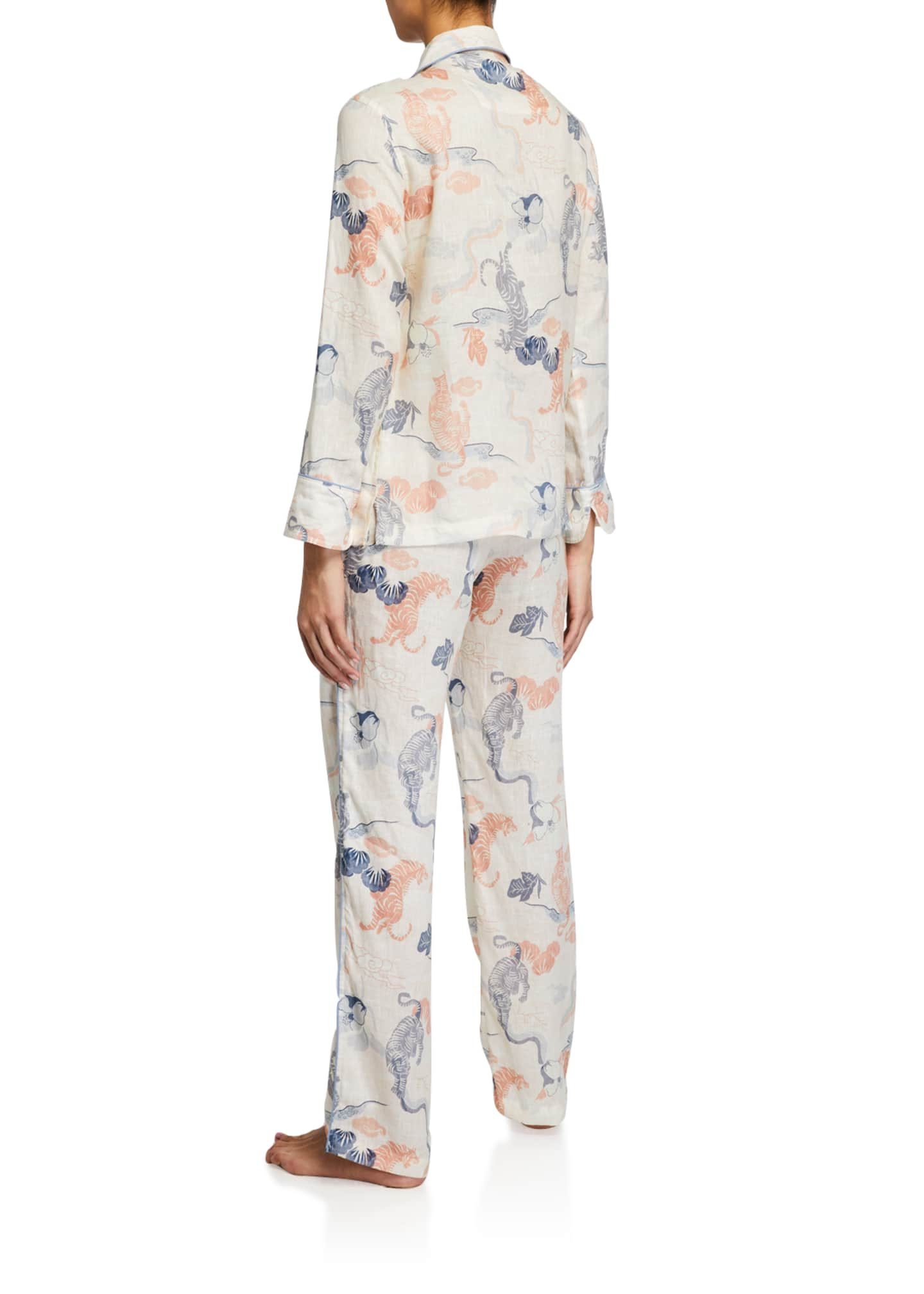 Image 2 of 2: Emma Peking Tiger Long Pajama Set