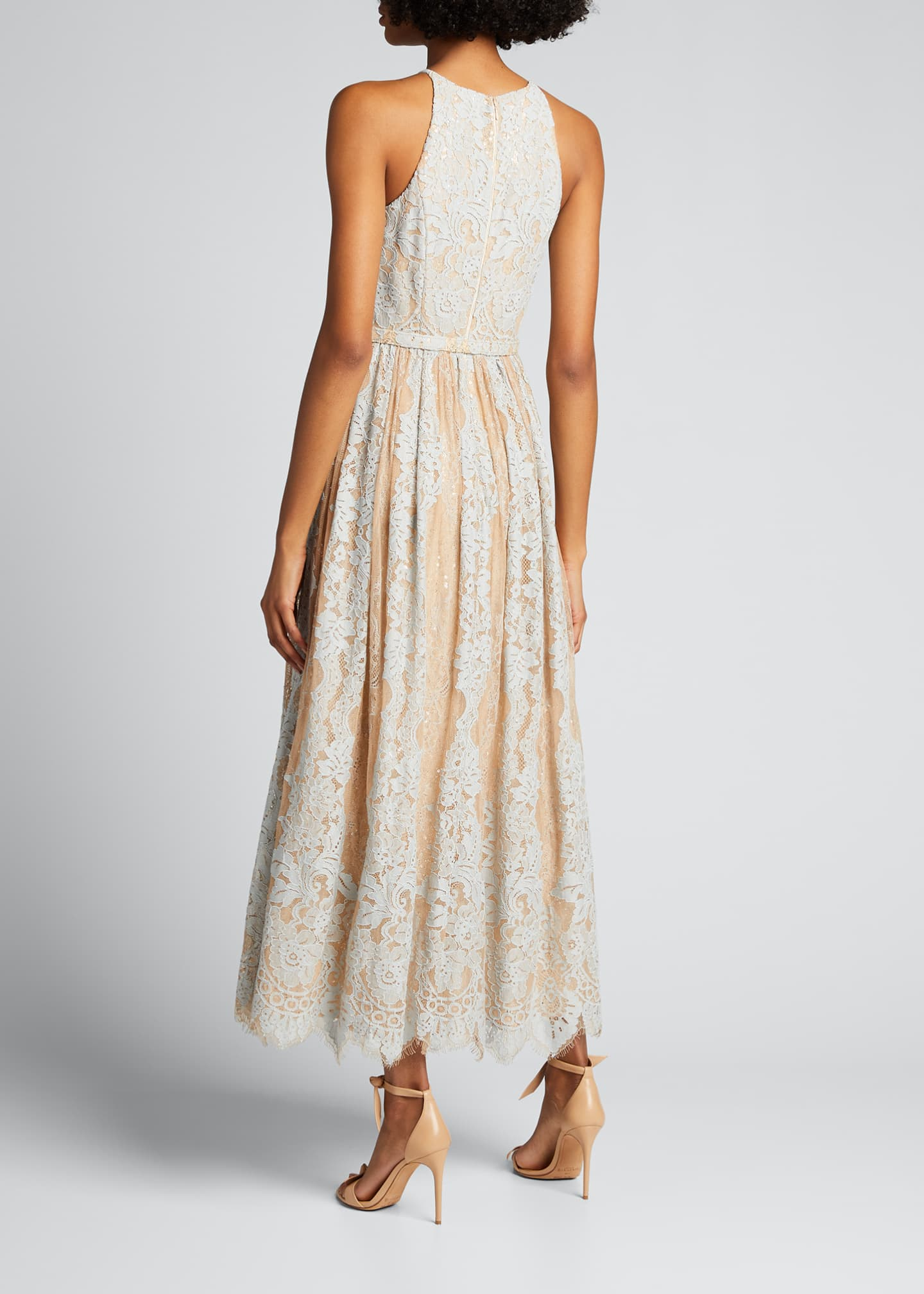 Image 2 of 5: Sequin Lace Racer Halter Dress