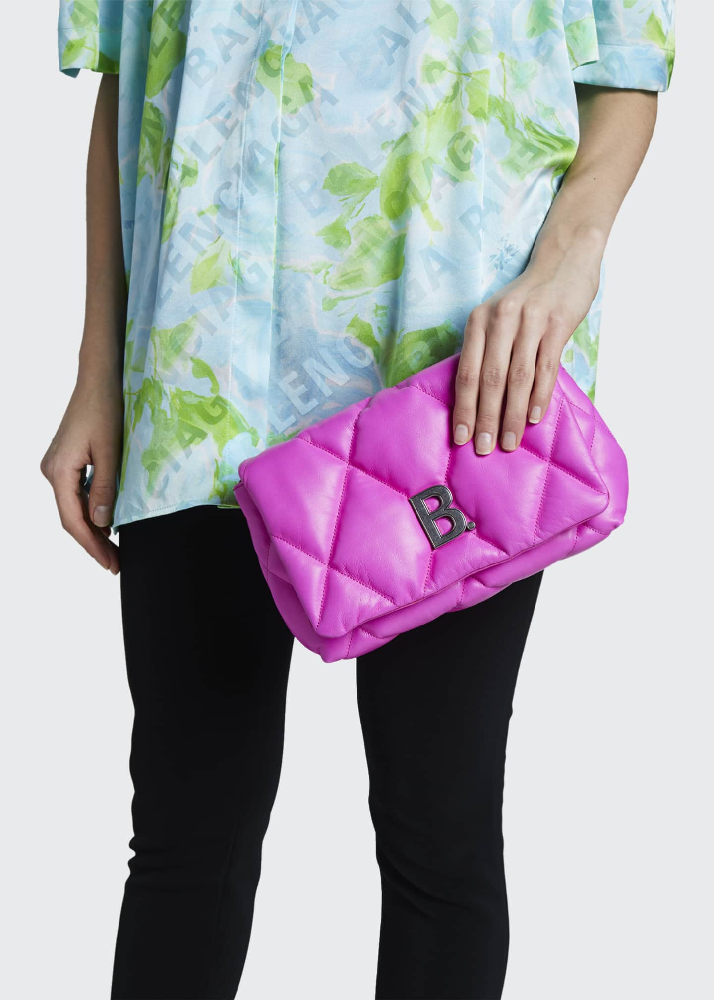 Image 2 of 5: Touch Puffy Medium Quilted Clutch Bag