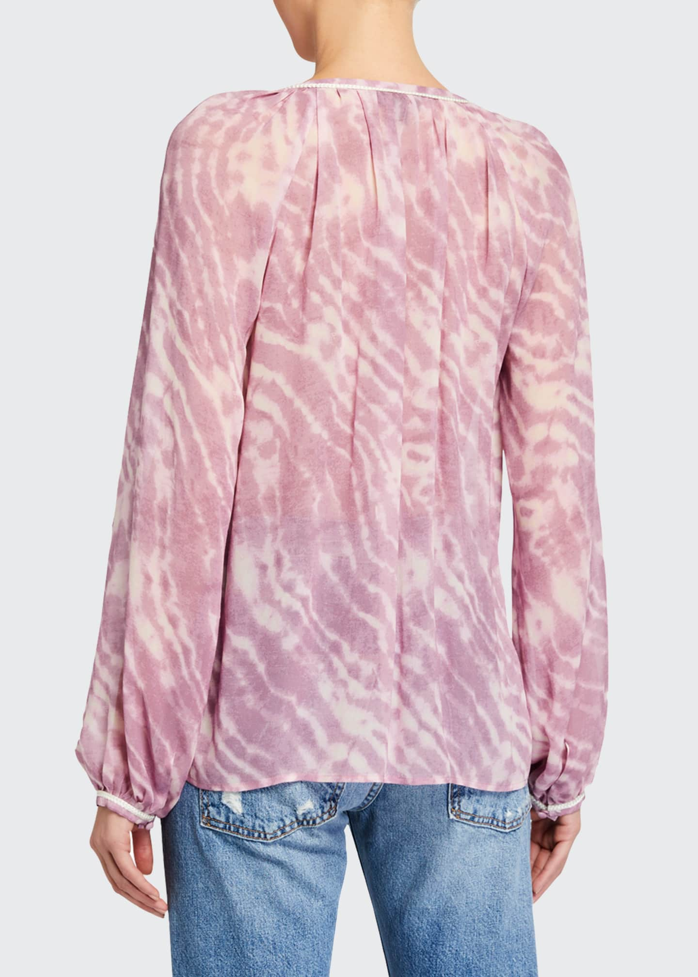Image 2 of 2: Clarissa Tie-Dye Long-Sleeve Top
