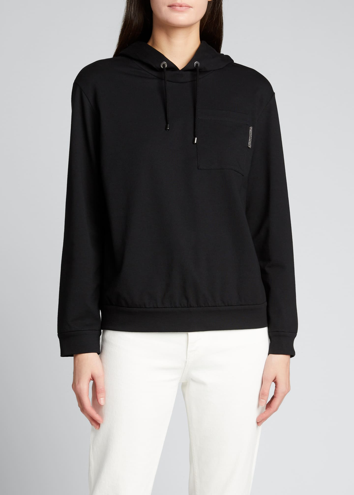 Image 3 of 5: Felpa Stretch Cotton Hoodie