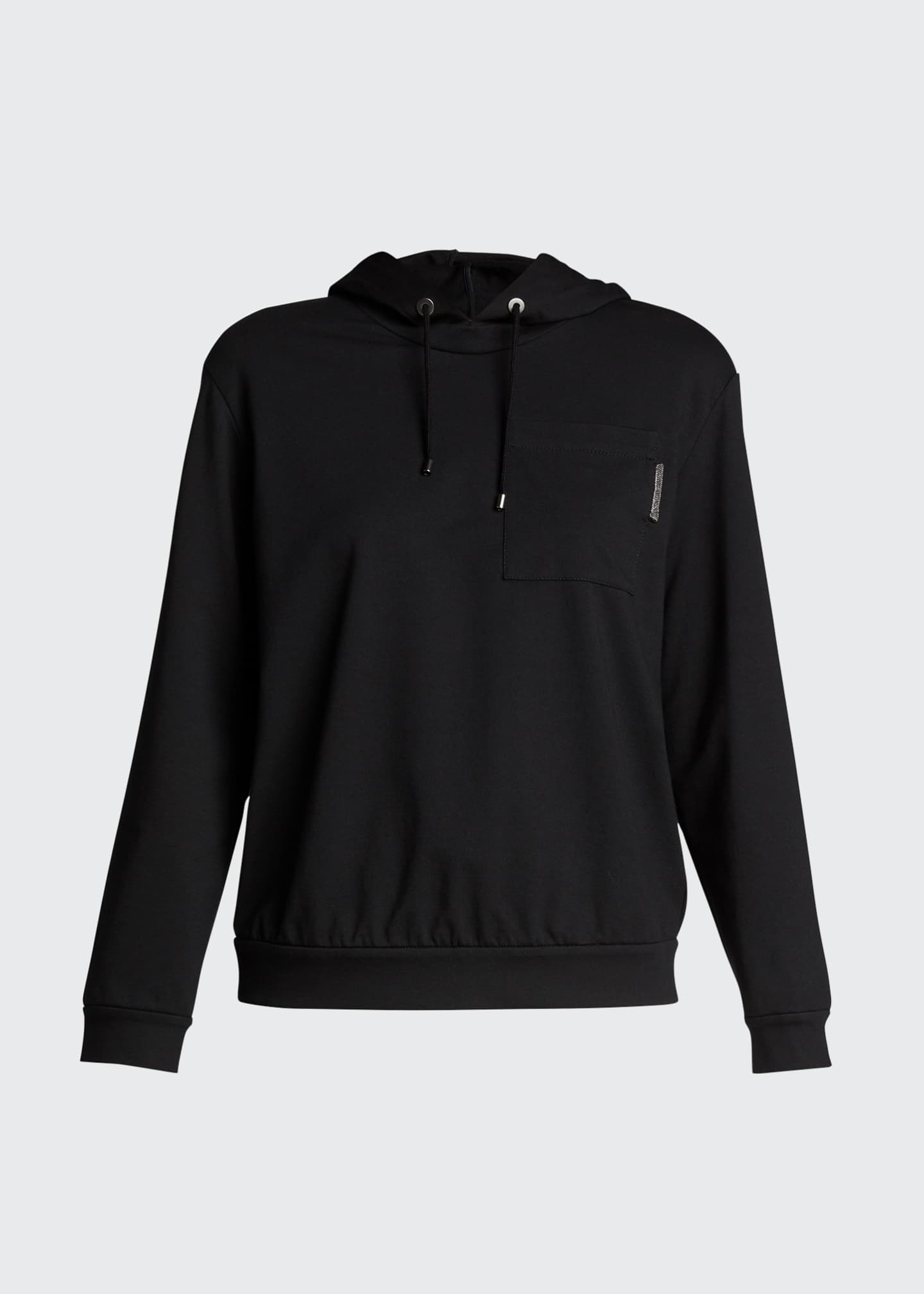 Image 5 of 5: Felpa Stretch Cotton Hoodie