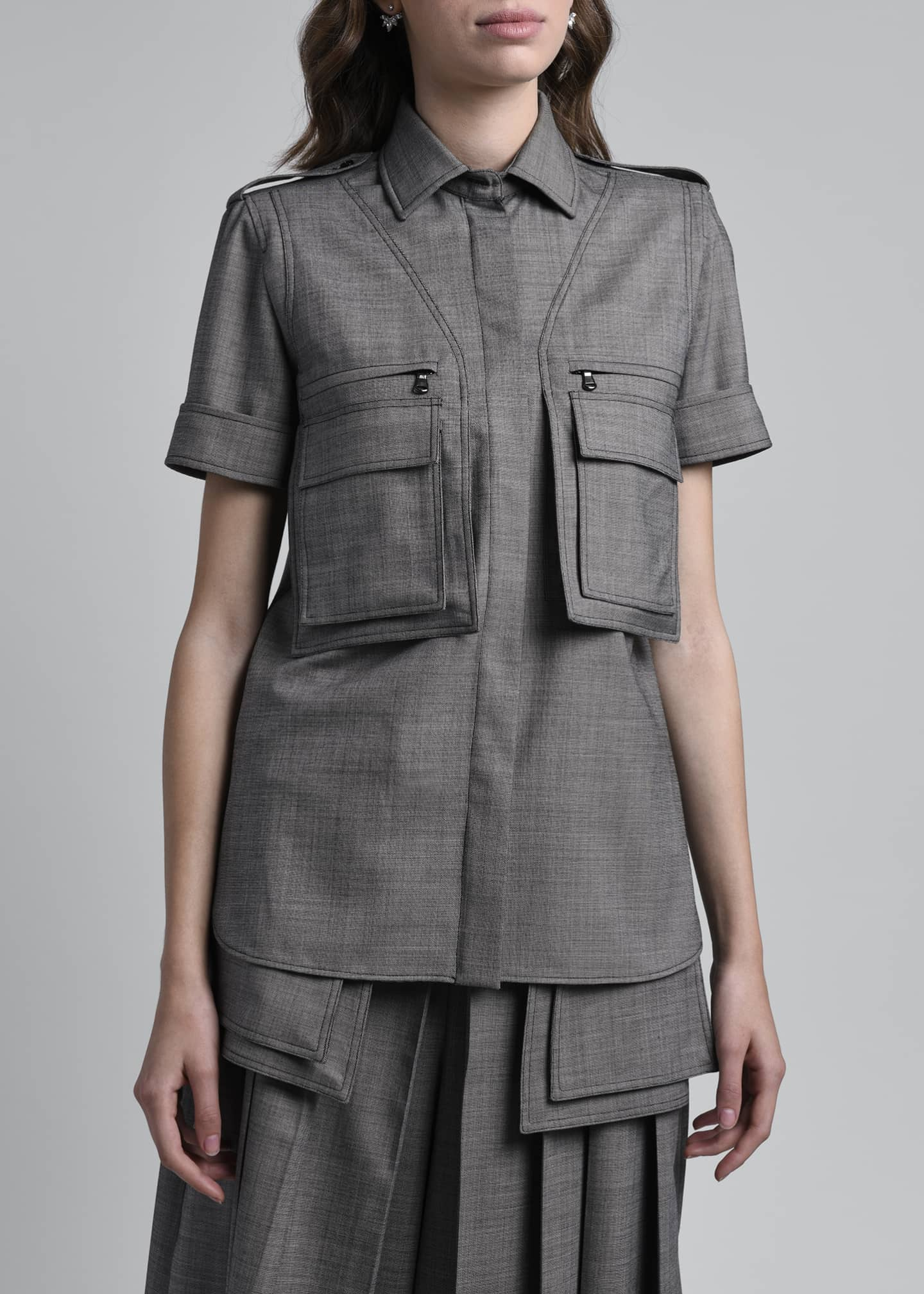 Image 3 of 4: Dovere Twill Utility Shirt