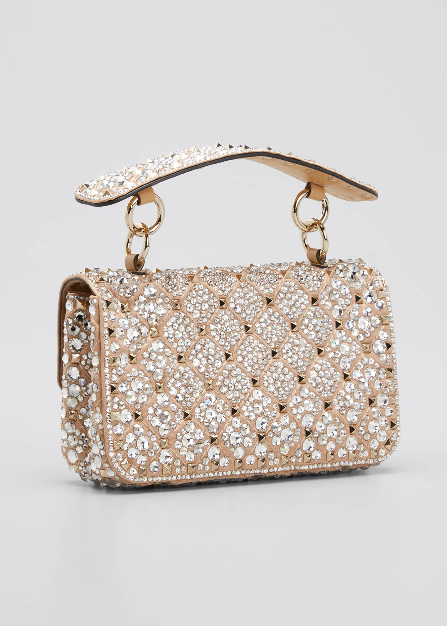 Image 3 of 5: Spike.It Small Embellished Shoulder Bag