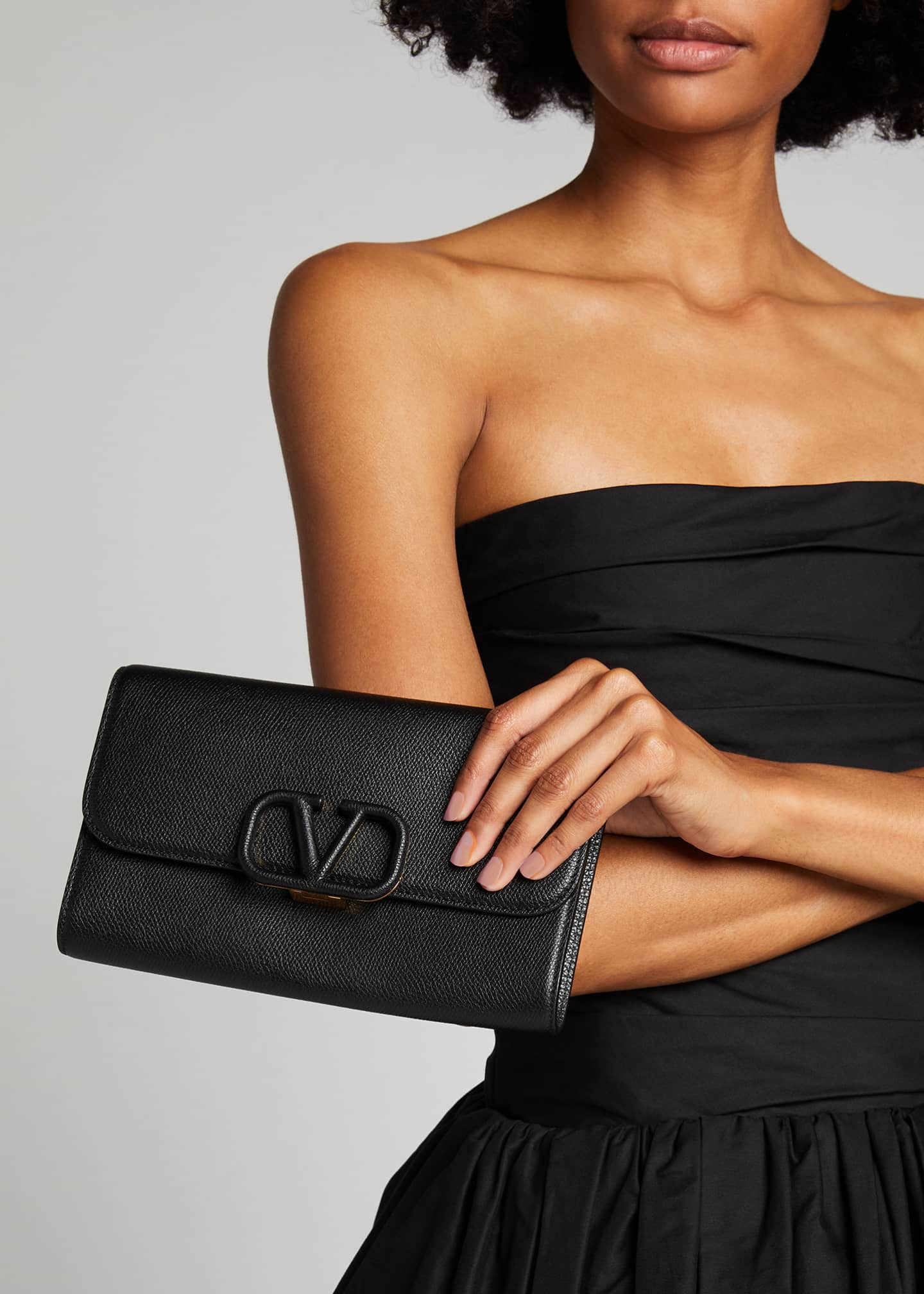 Image 2 of 5: VSLING Grained Calfskin Clutch Bag