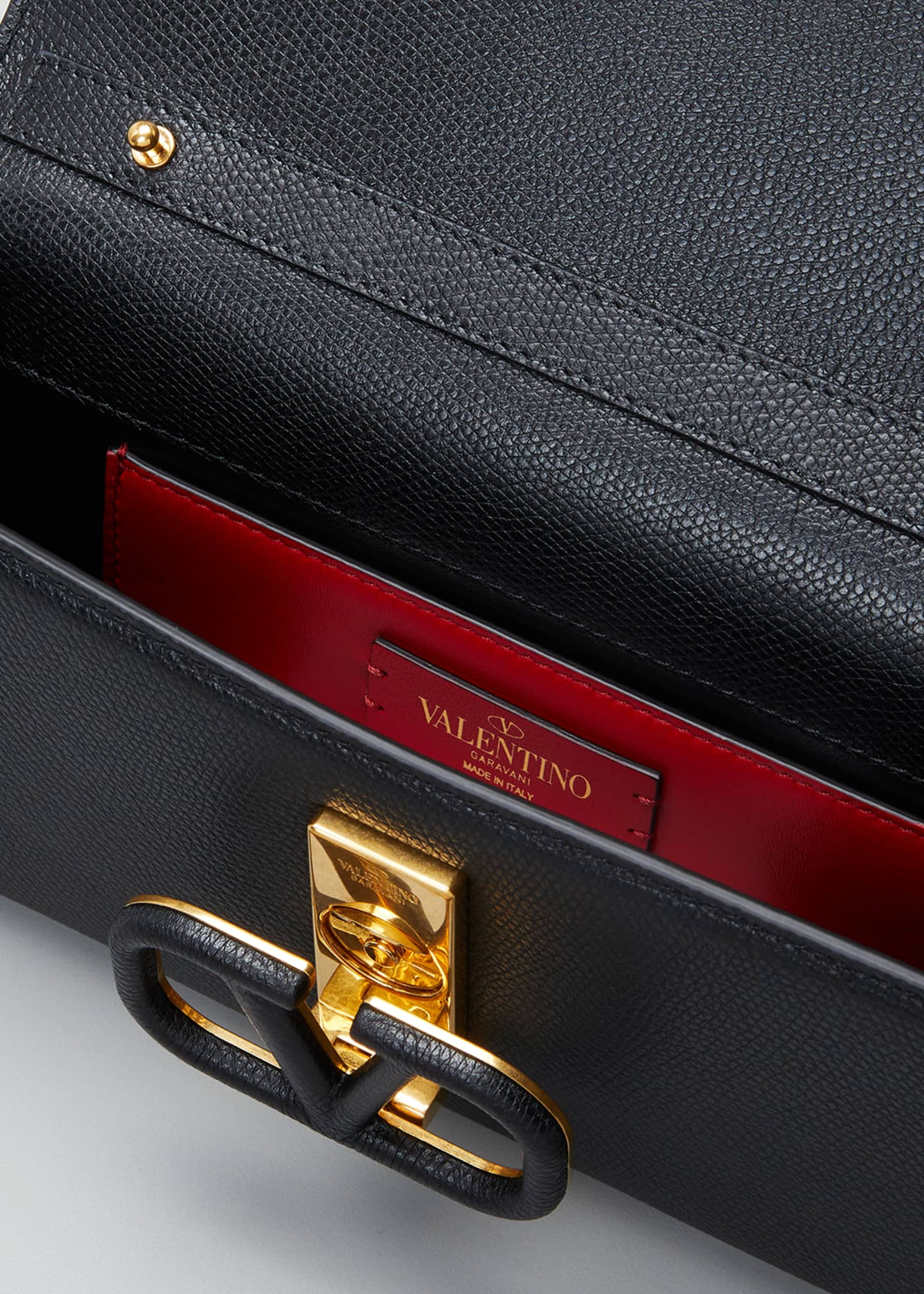 Image 4 of 5: VSLING Grained Calfskin Clutch Bag