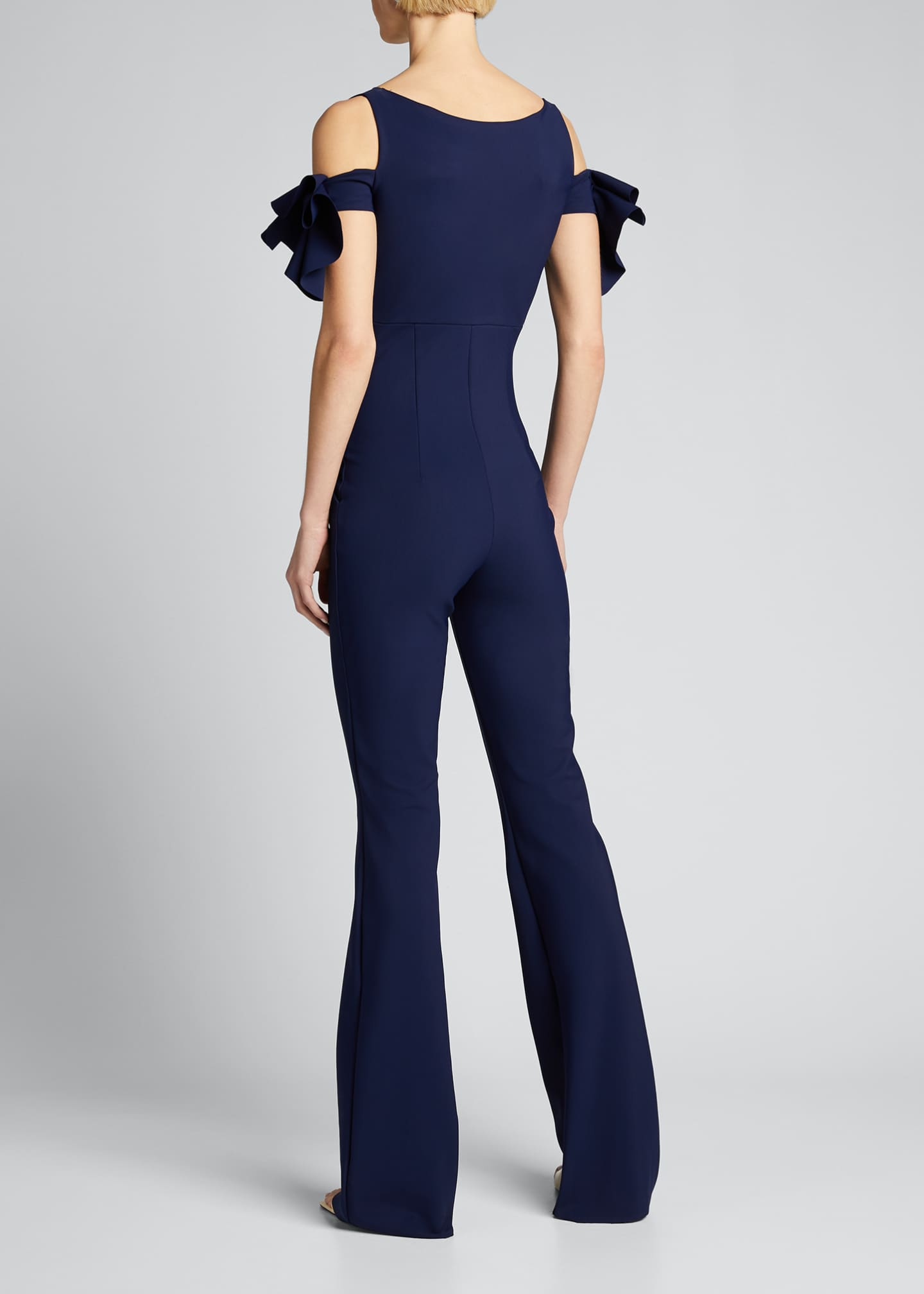 Image 2 of 5: Cold-Shoulder Jumpsuit