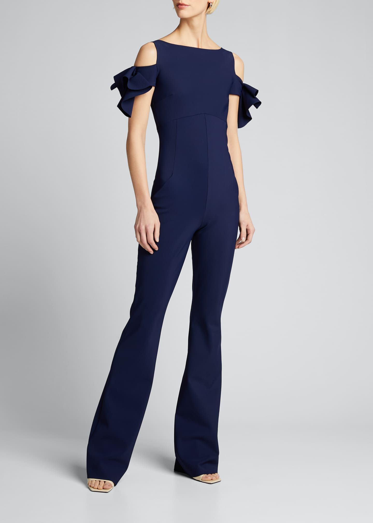 Image 3 of 5: Cold-Shoulder Jumpsuit