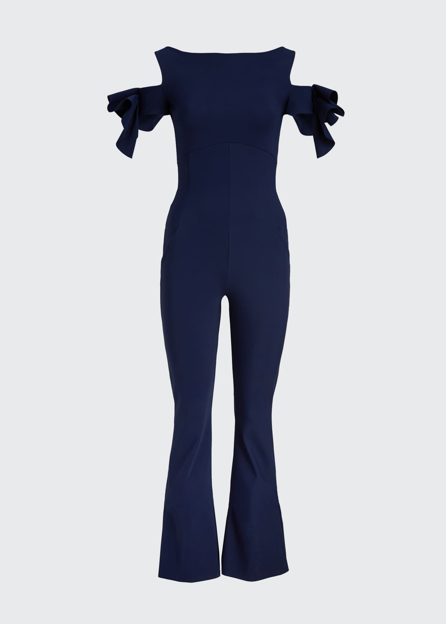 Image 5 of 5: Cold-Shoulder Jumpsuit