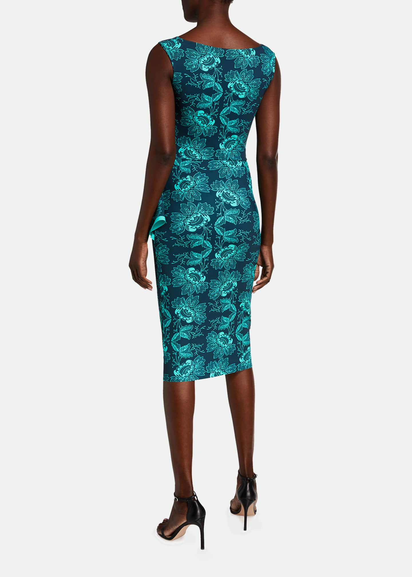 Image 2 of 2: Printed Flap-Waist Sleeveless Dress