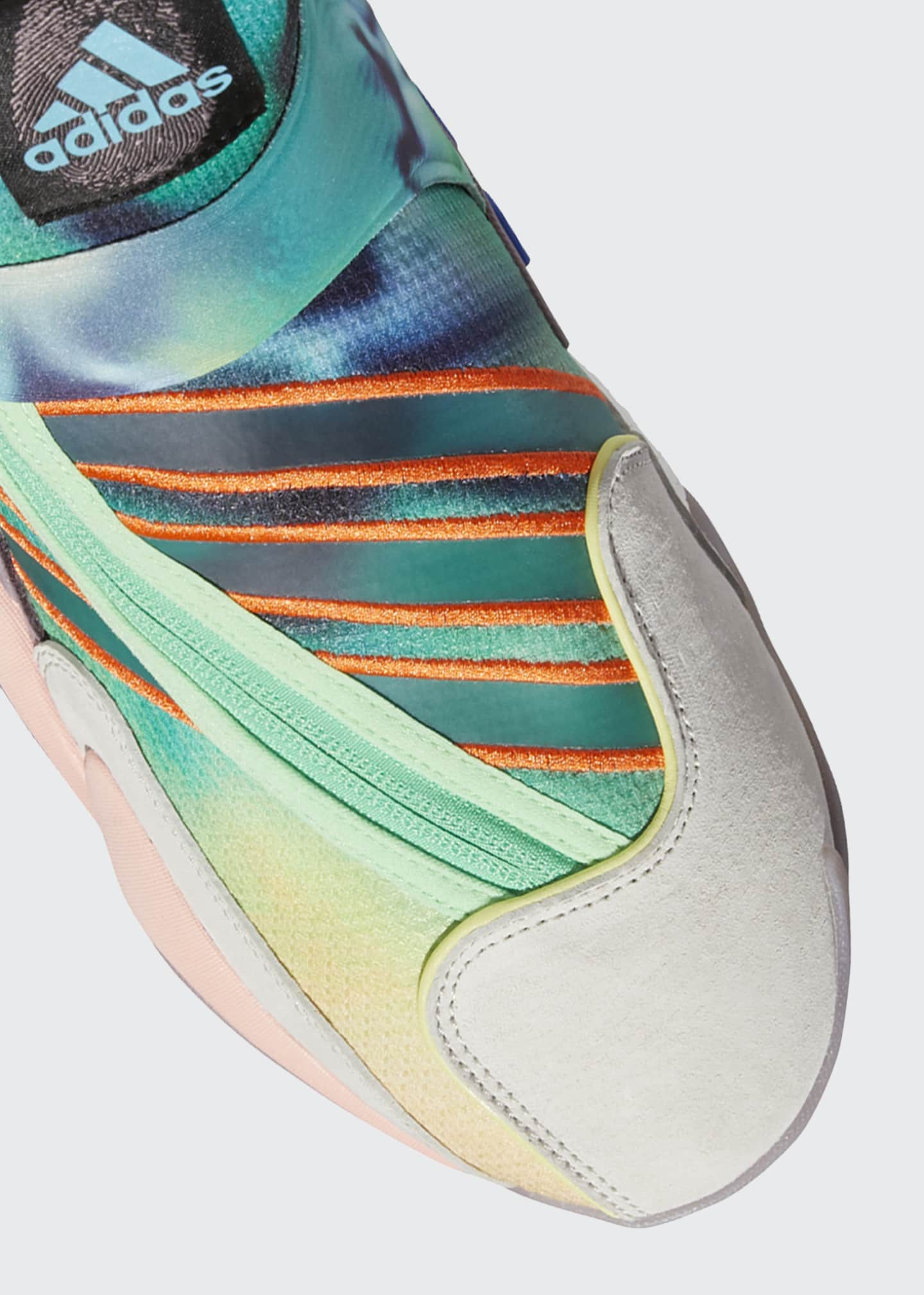 Image 5 of 5: Men's x Pharrell Williams Multicolor Mid-Top Sneakers
