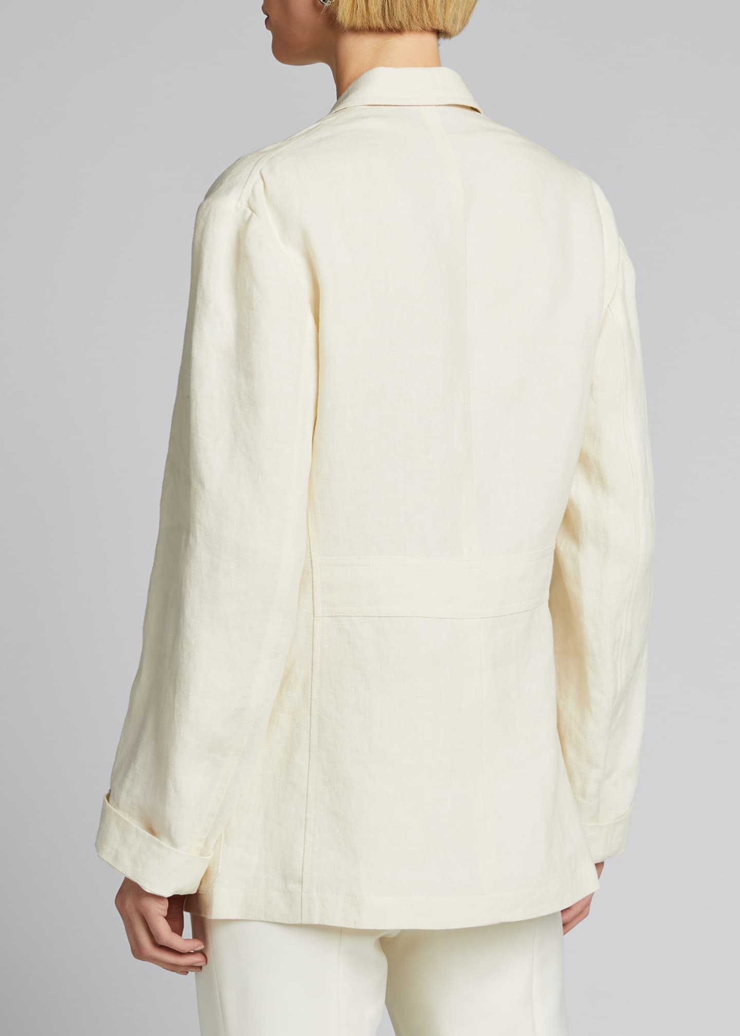 Image 2 of 5: Demi Linen Chore Utility Coat