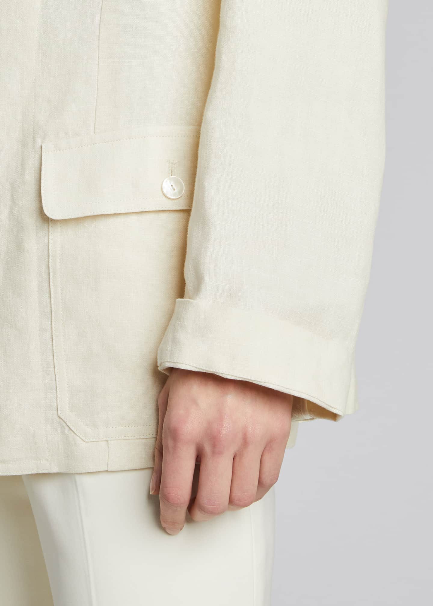Image 4 of 5: Demi Linen Chore Utility Coat