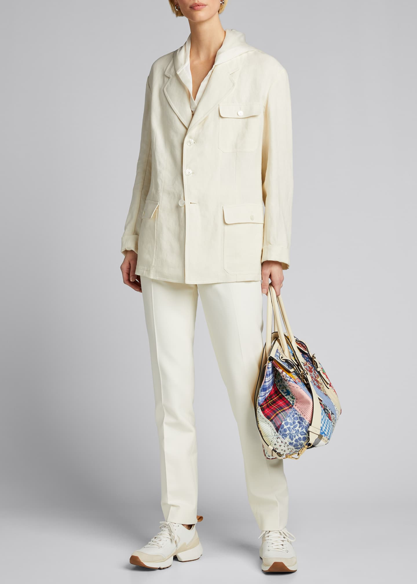 Image 1 of 5: Demi Linen Chore Utility Coat