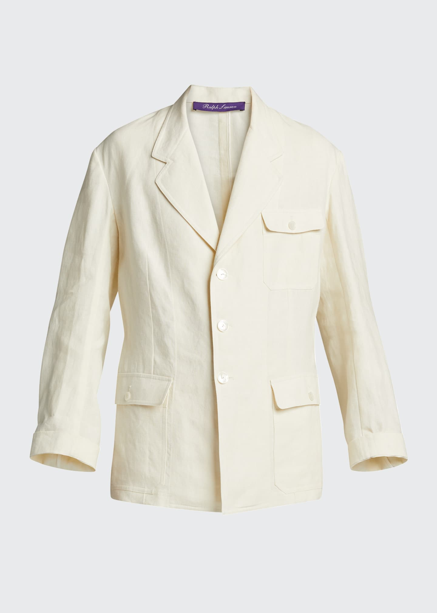 Image 5 of 5: Demi Linen Chore Utility Coat