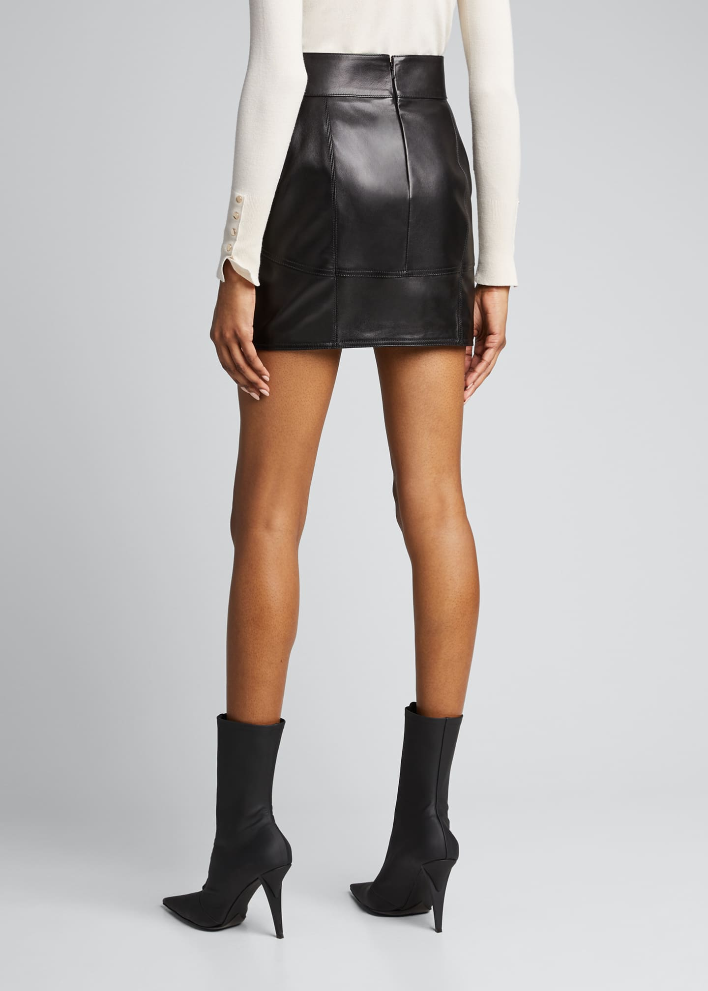 Image 2 of 5: Leather Mini Skirt