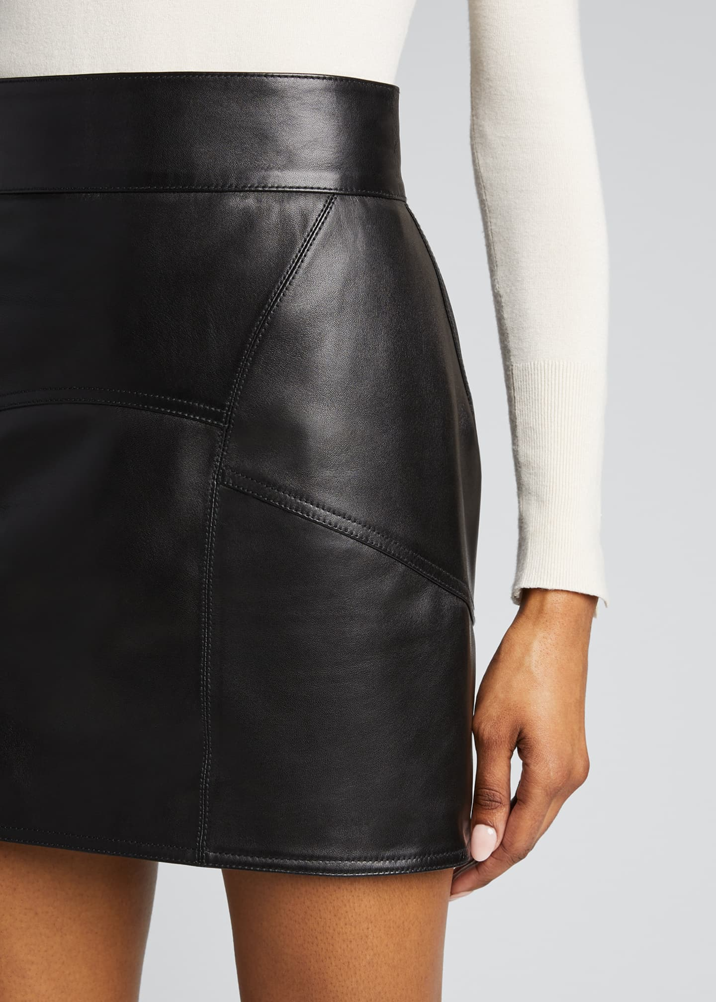 Image 4 of 5: Leather Mini Skirt