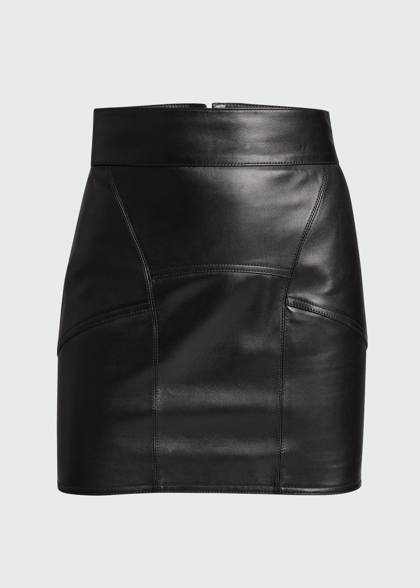 Image 5 of 5: Leather Mini Skirt