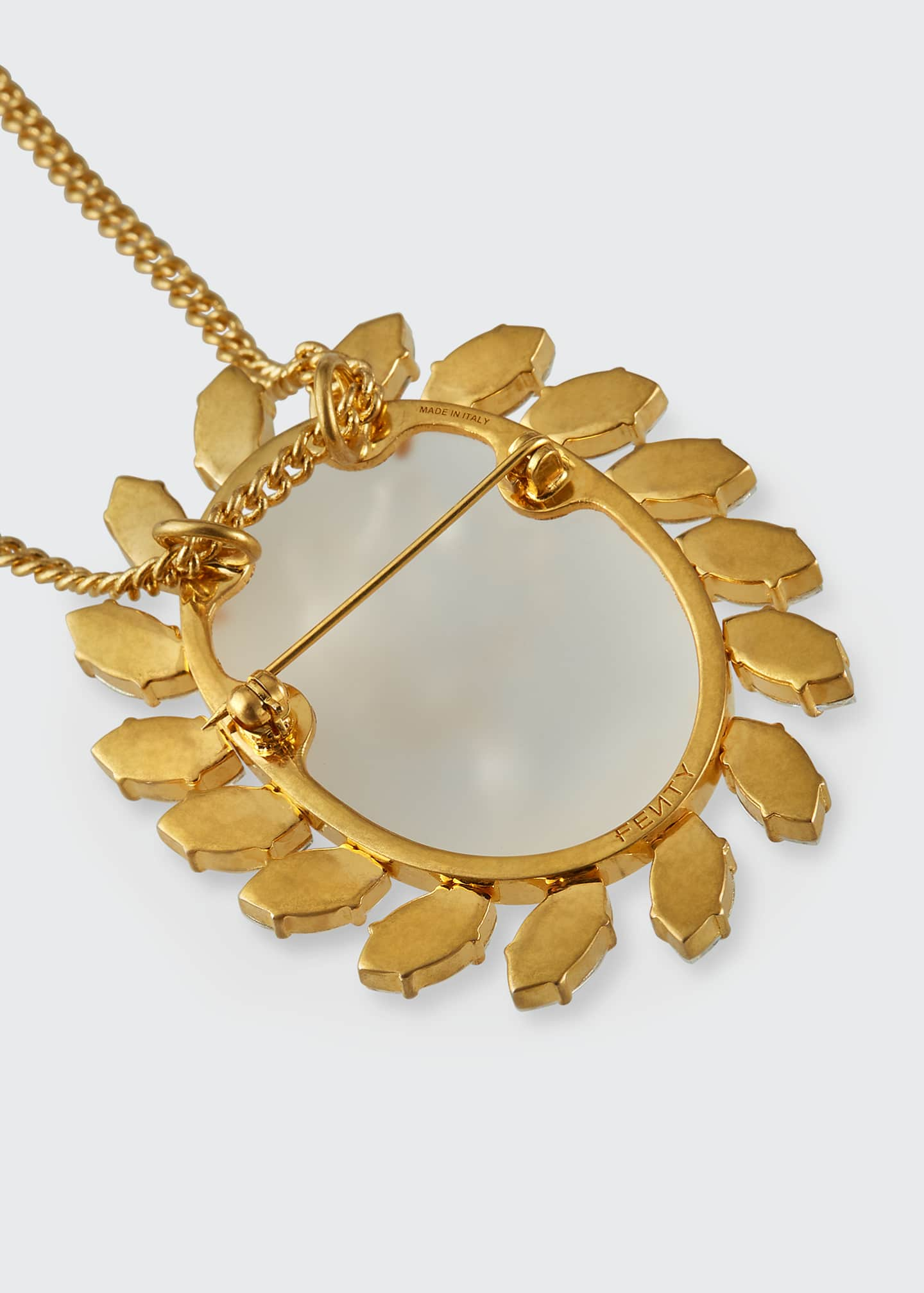 Image 2 of 2: Crystal Cameo Pendant Necklace