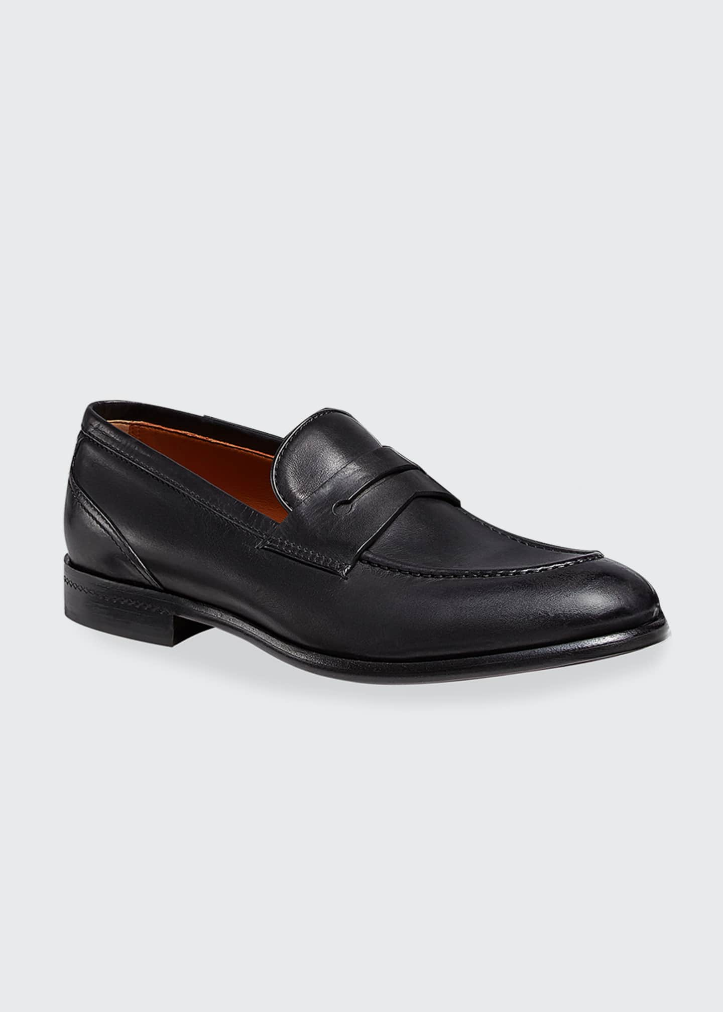 Image 2 of 3: Men's Marcello Leather Penny Loafers