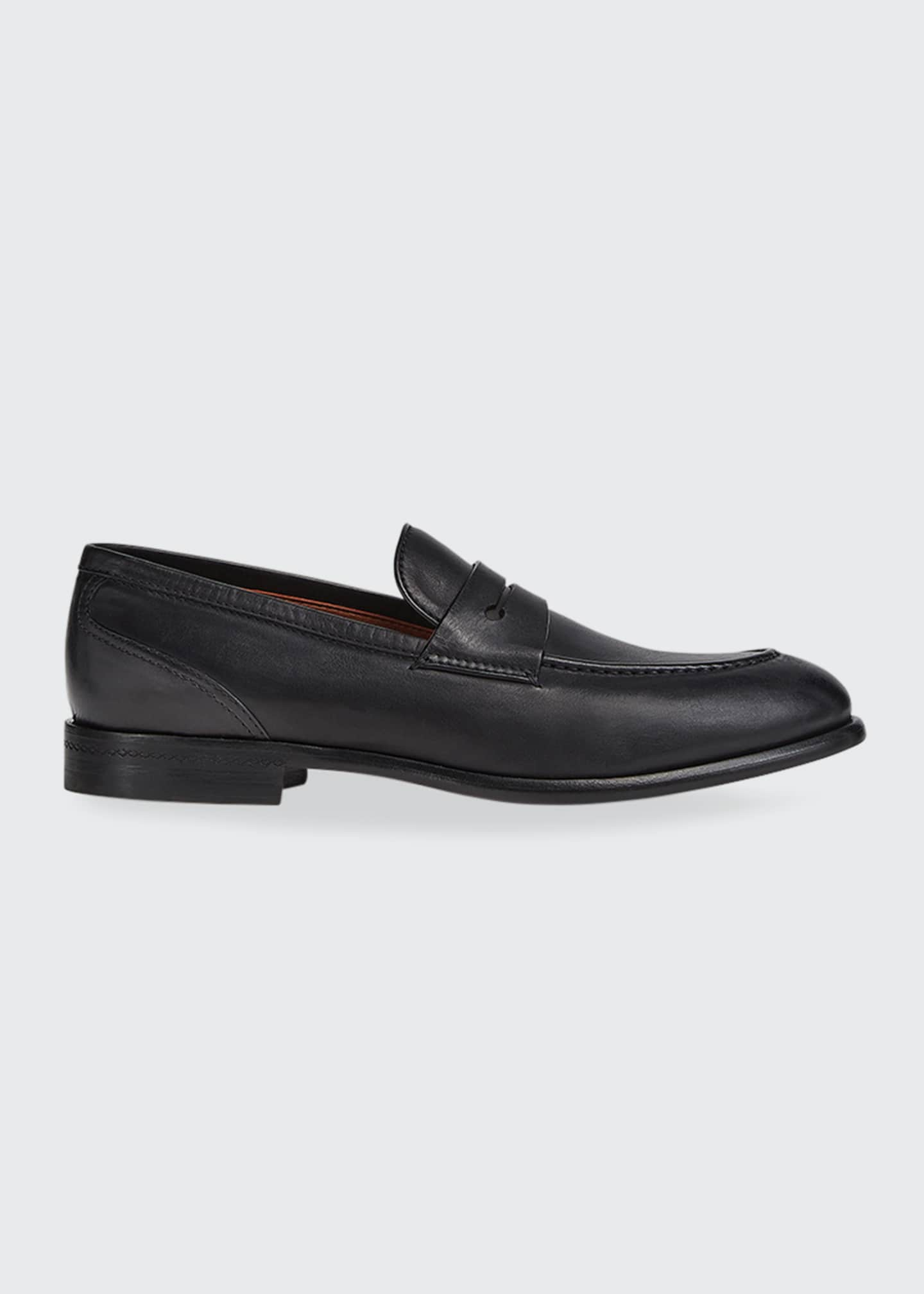 Image 1 of 3: Men's Marcello Leather Penny Loafers