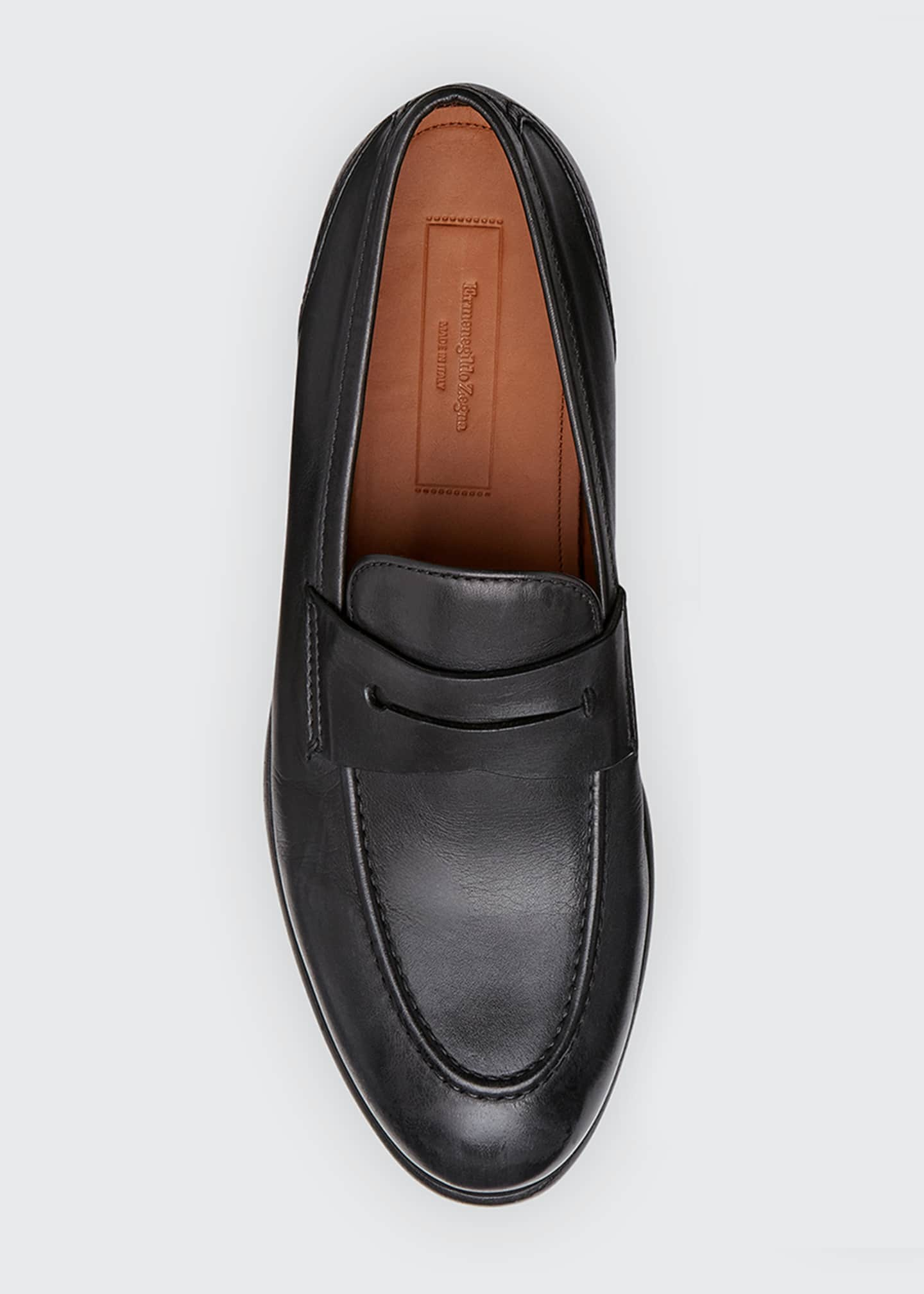 Image 3 of 3: Men's Marcello Leather Penny Loafers