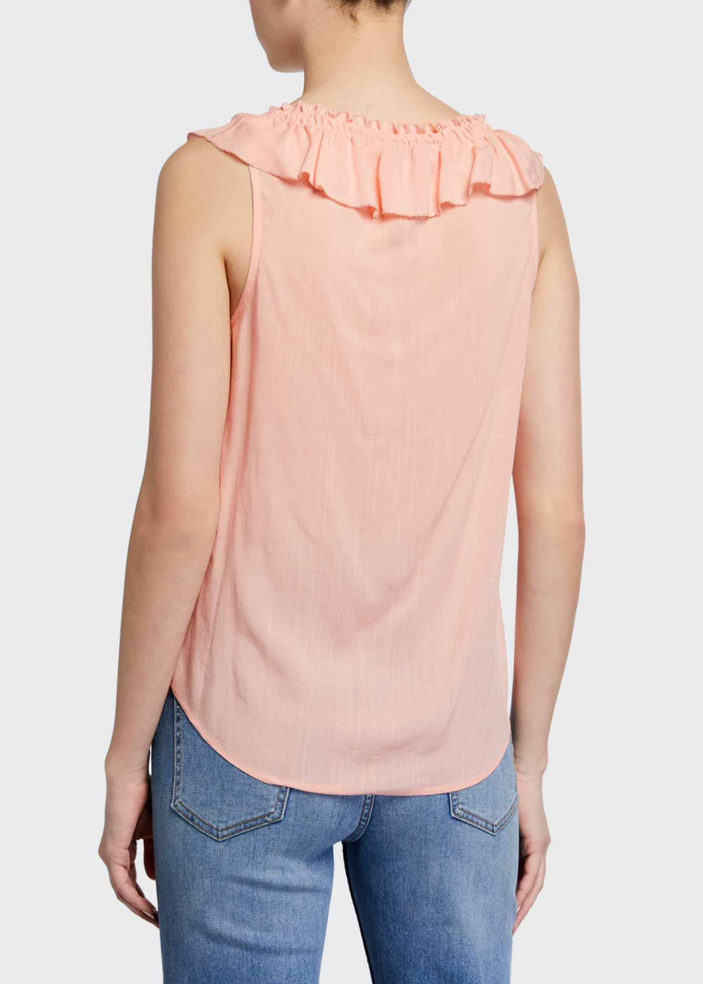 Image 2 of 2: Santina Sleeveless Ruffle Top