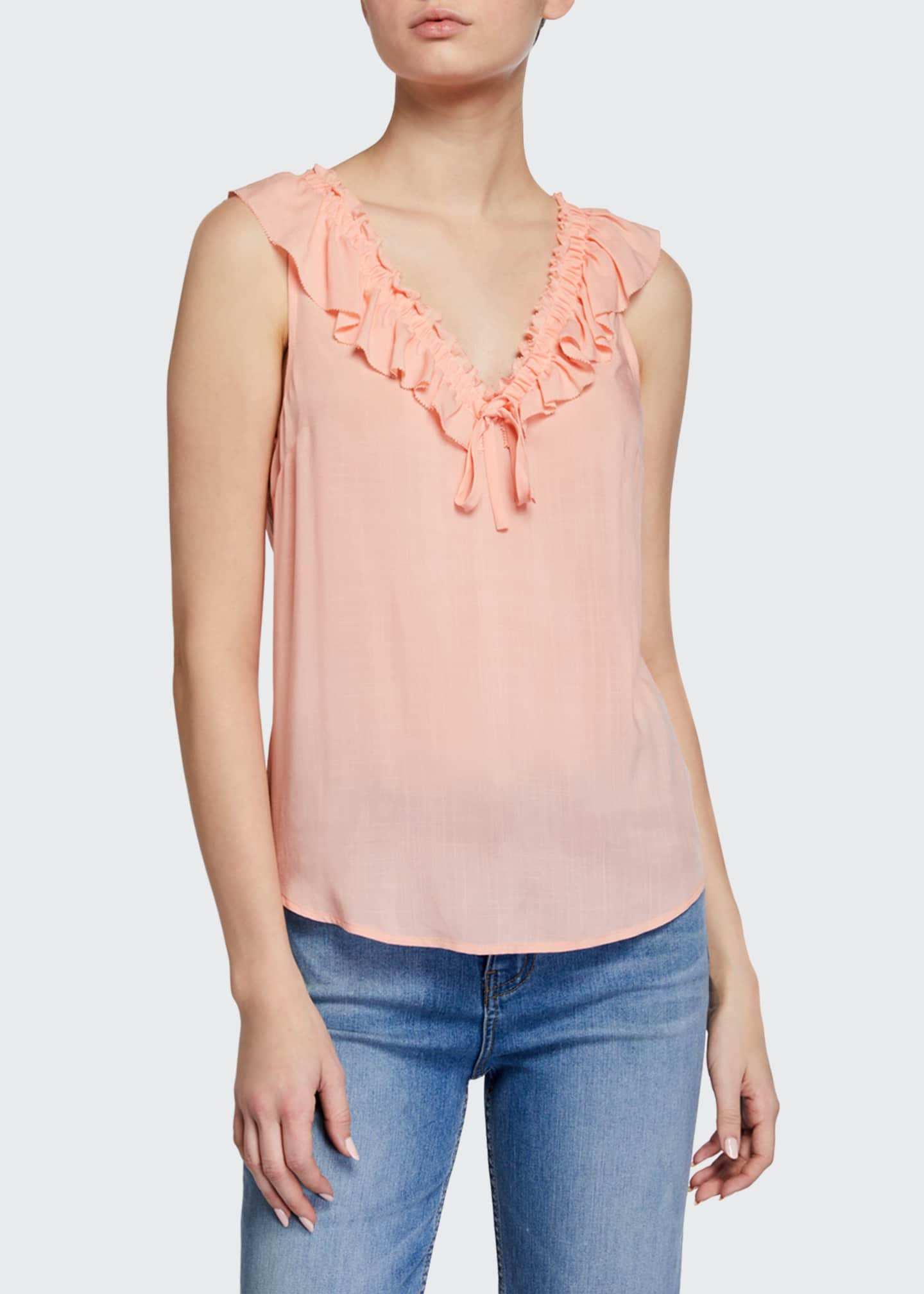 Image 1 of 2: Santina Sleeveless Ruffle Top
