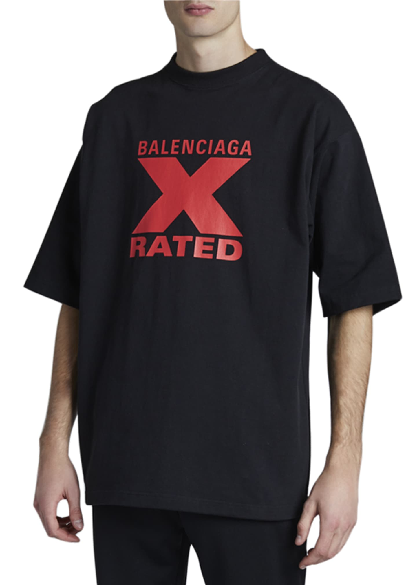 Image 1 of 2: Men's X Rated Print T-Shirt