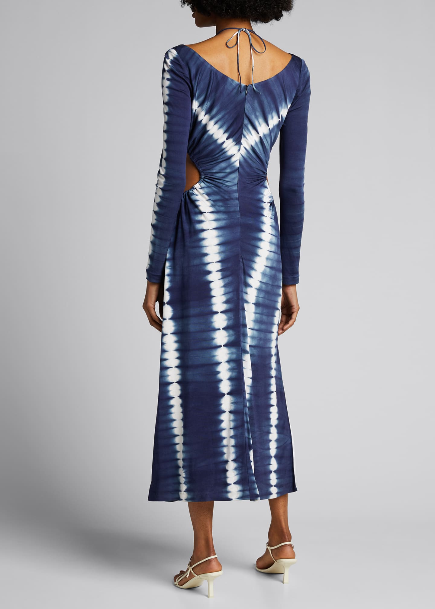 Image 2 of 5: Tie-Dyed Cutout Maxi Dress