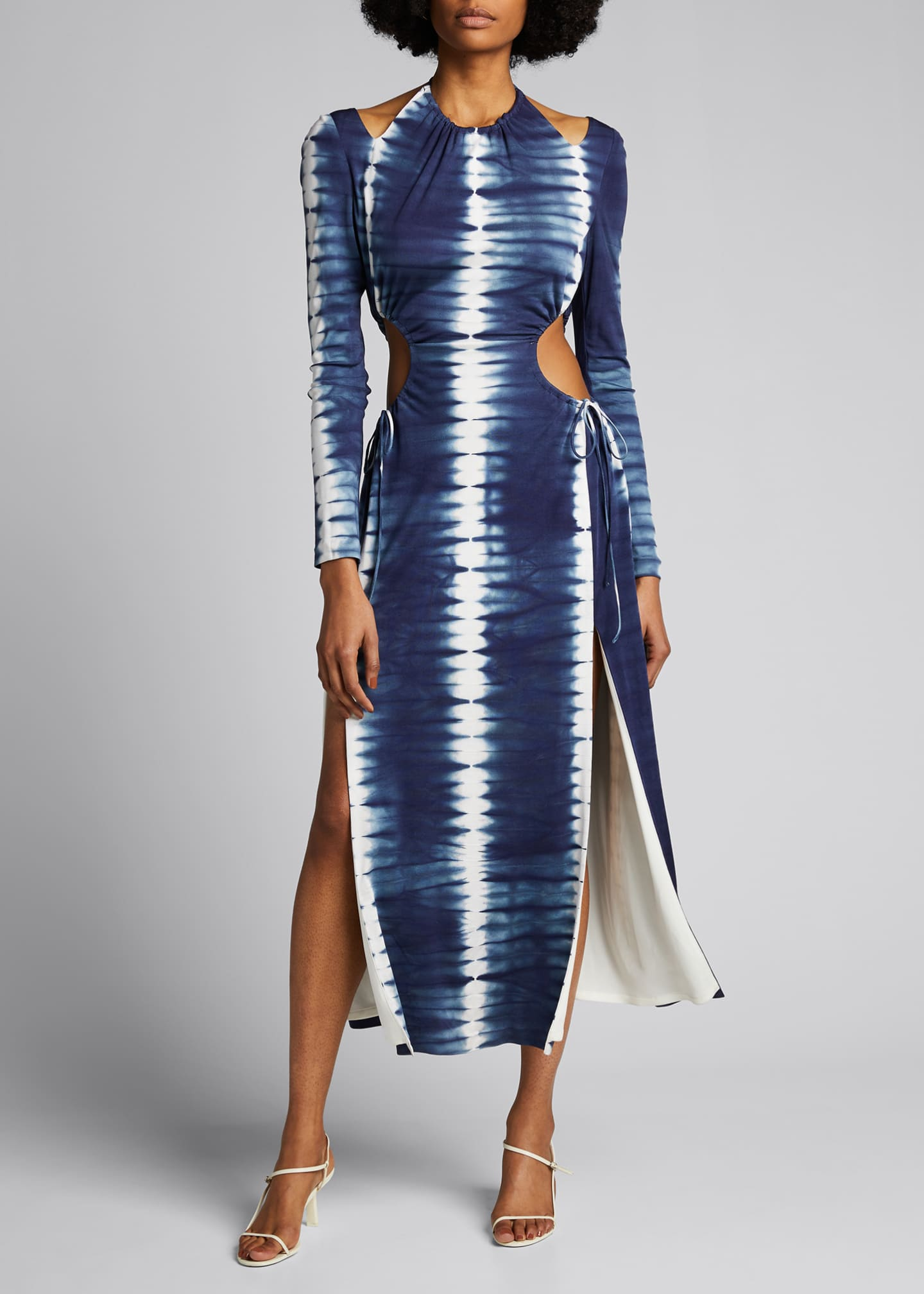 Image 3 of 5: Tie-Dyed Cutout Maxi Dress