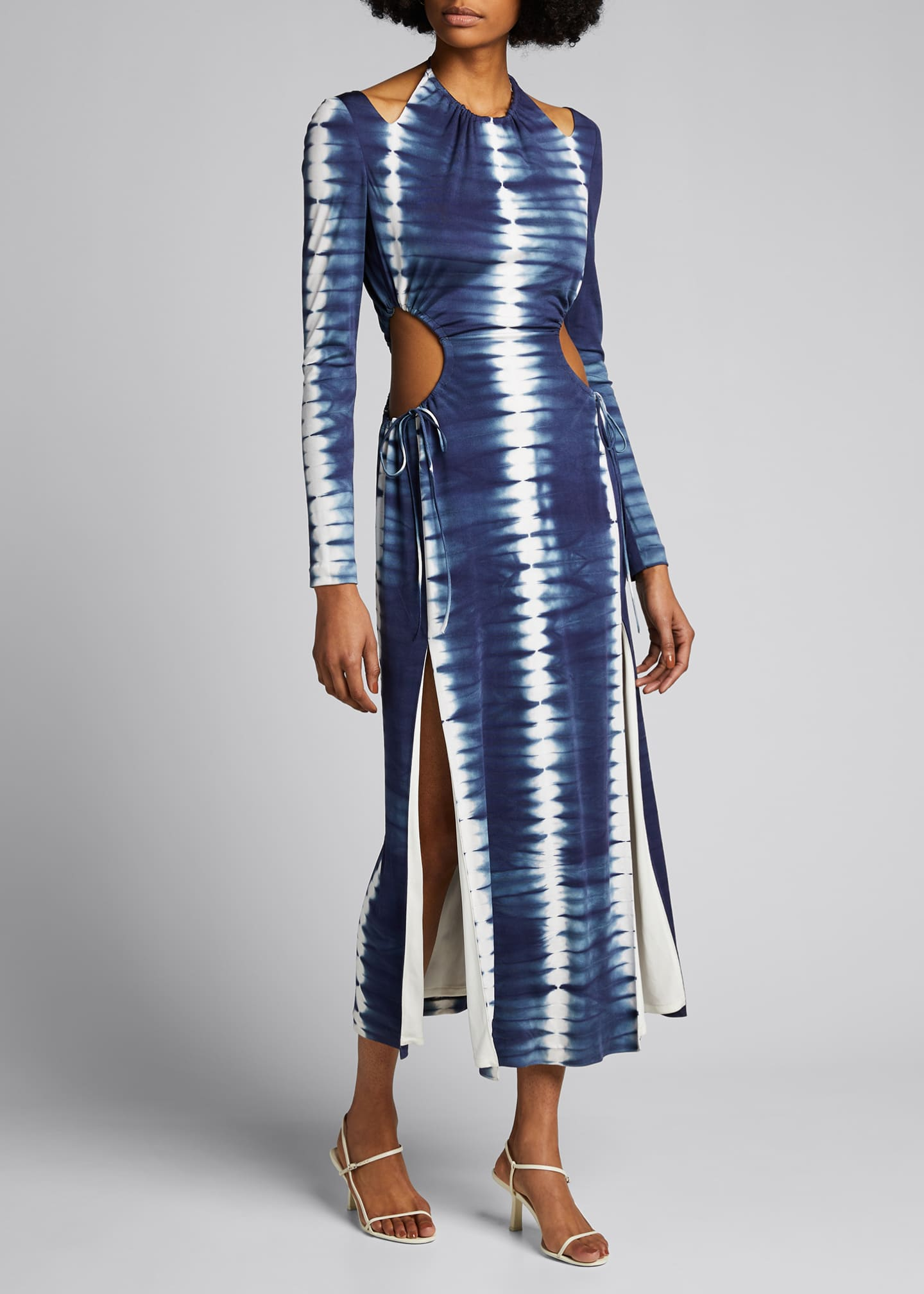 Image 1 of 5: Tie-Dyed Cutout Maxi Dress