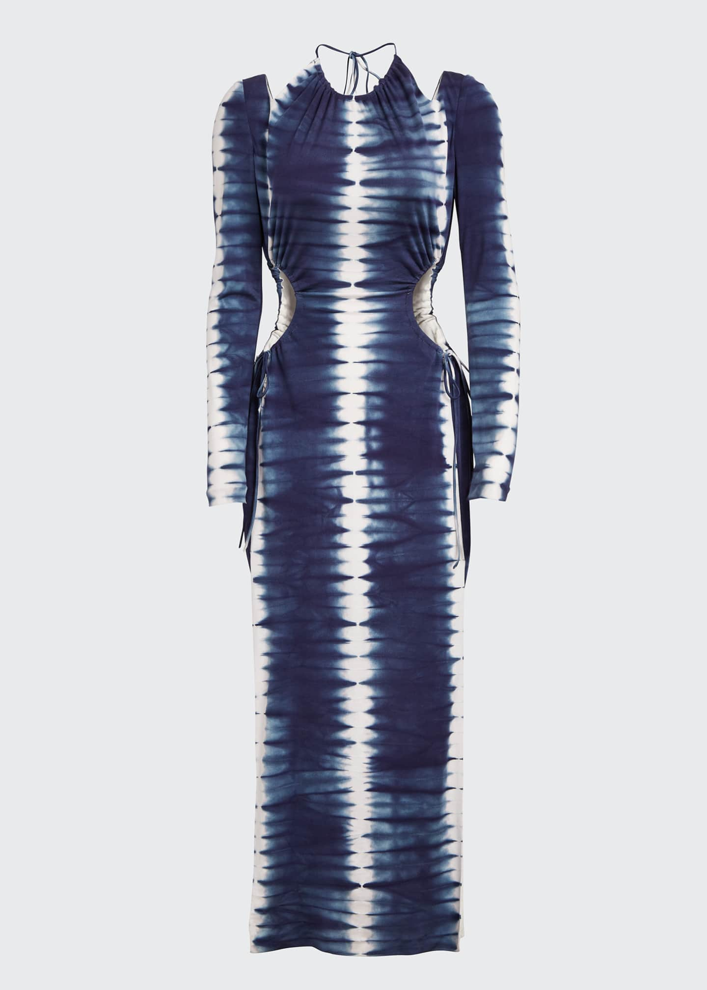 Image 5 of 5: Tie-Dyed Cutout Maxi Dress