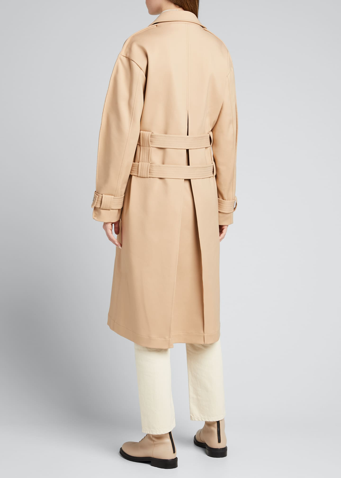 Image 2 of 5: Double-Belt Trench Coat