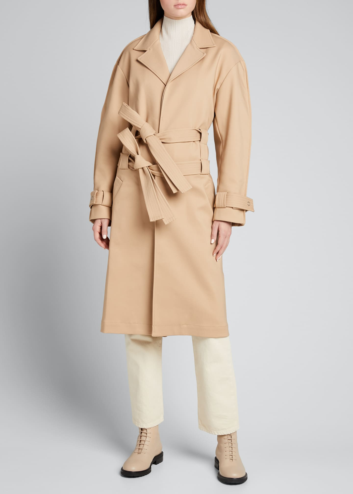 Image 3 of 5: Double-Belt Trench Coat
