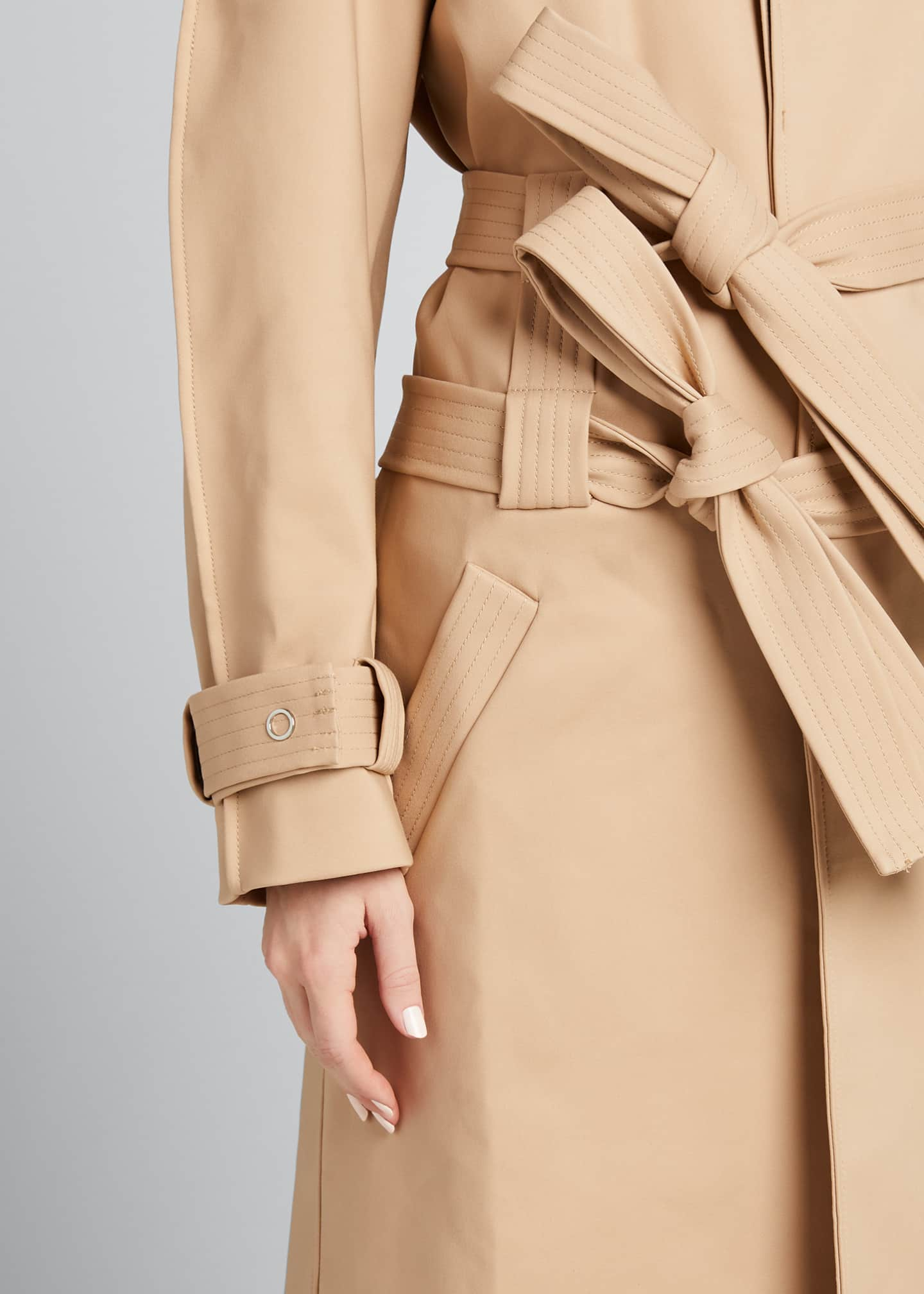 Image 4 of 5: Double-Belt Trench Coat