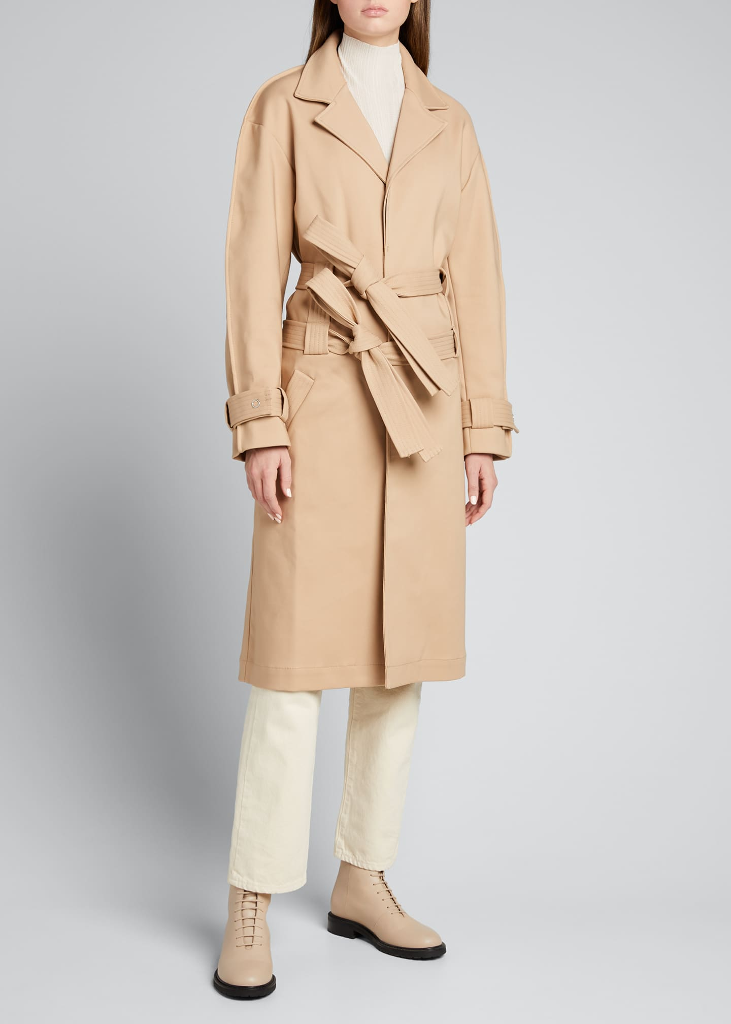 Image 1 of 5: Double-Belt Trench Coat