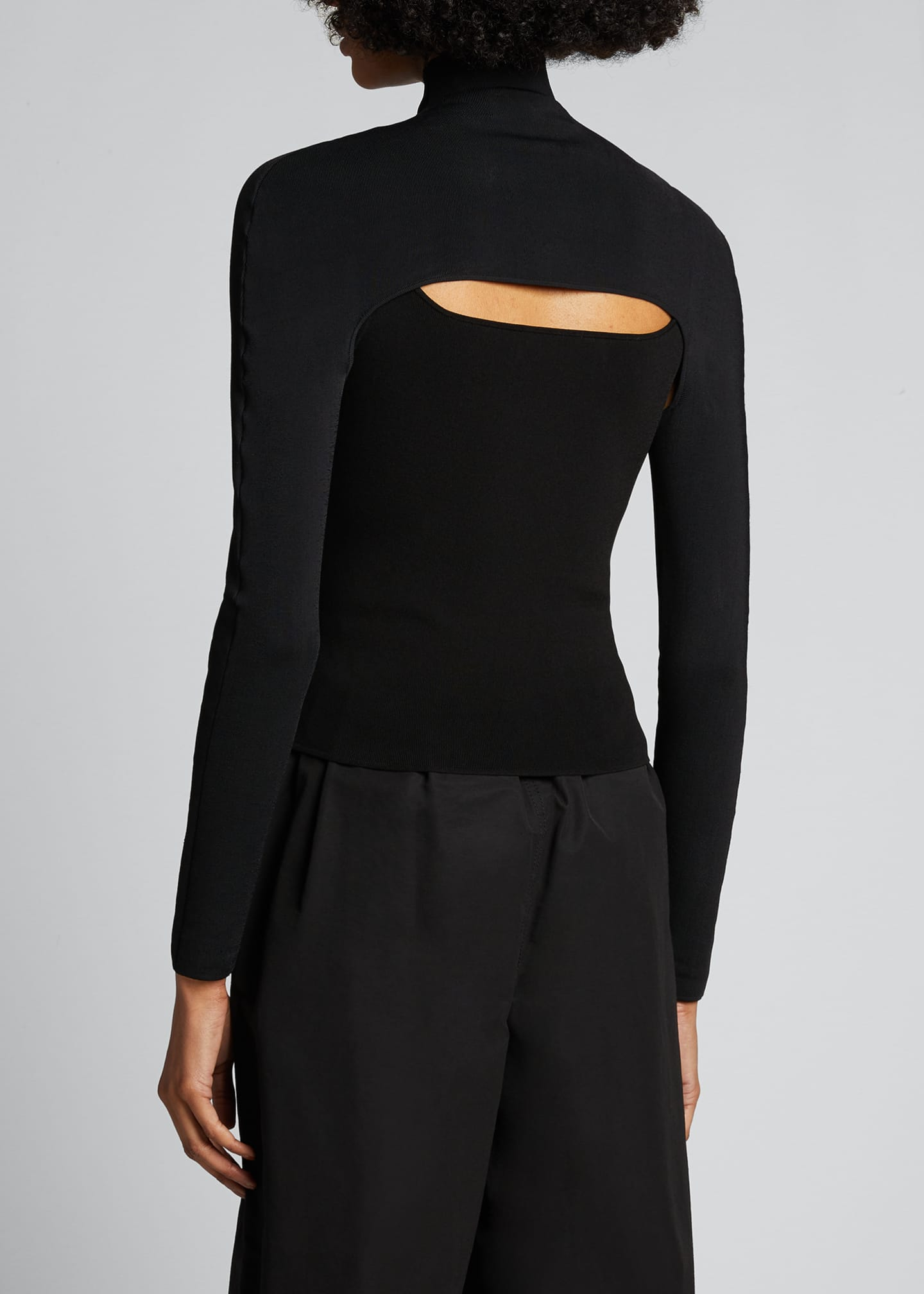 Image 2 of 5: Cutout Turtleneck Sweater
