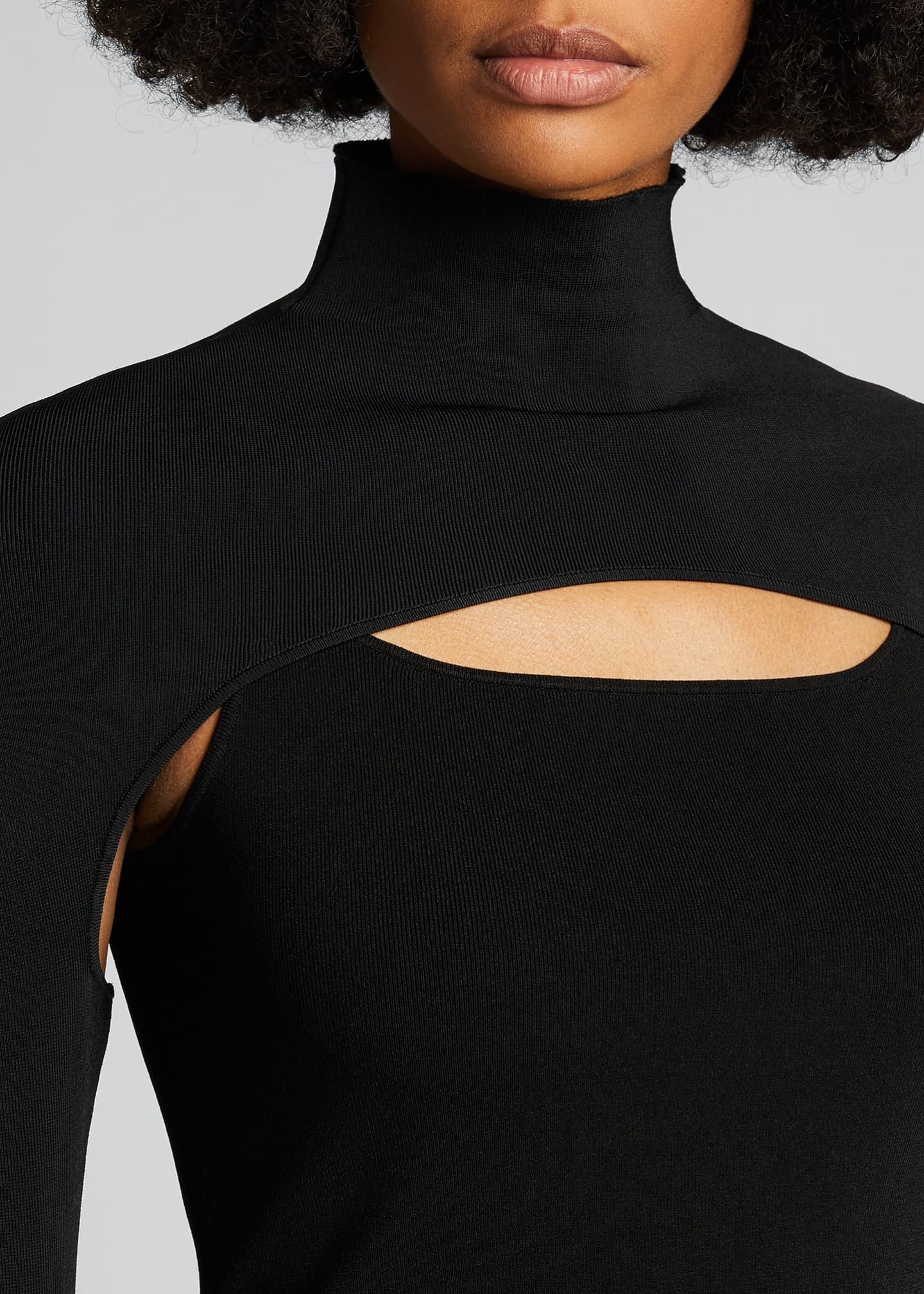 Image 4 of 5: Cutout Turtleneck Sweater