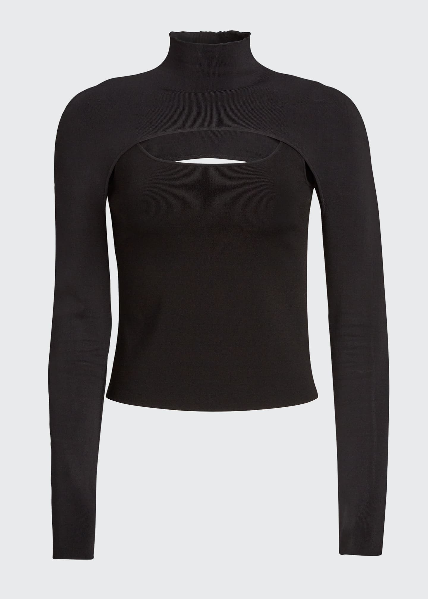 Image 5 of 5: Cutout Turtleneck Sweater