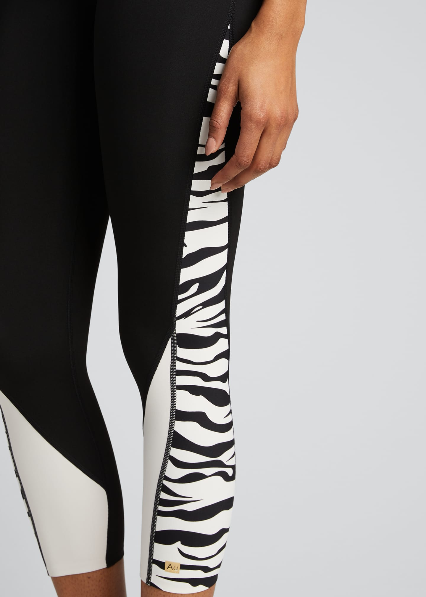 Image 4 of 5: Fearless Zebra Active Leggings