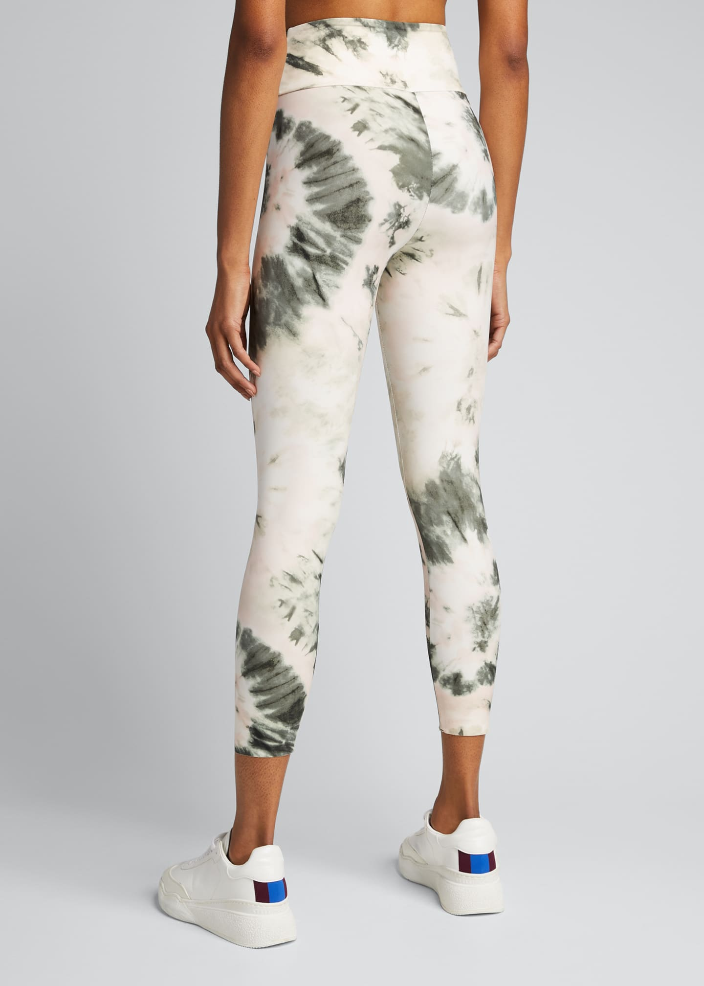 Image 2 of 5: Nebula Tie-Dye High-Waist Active Leggings