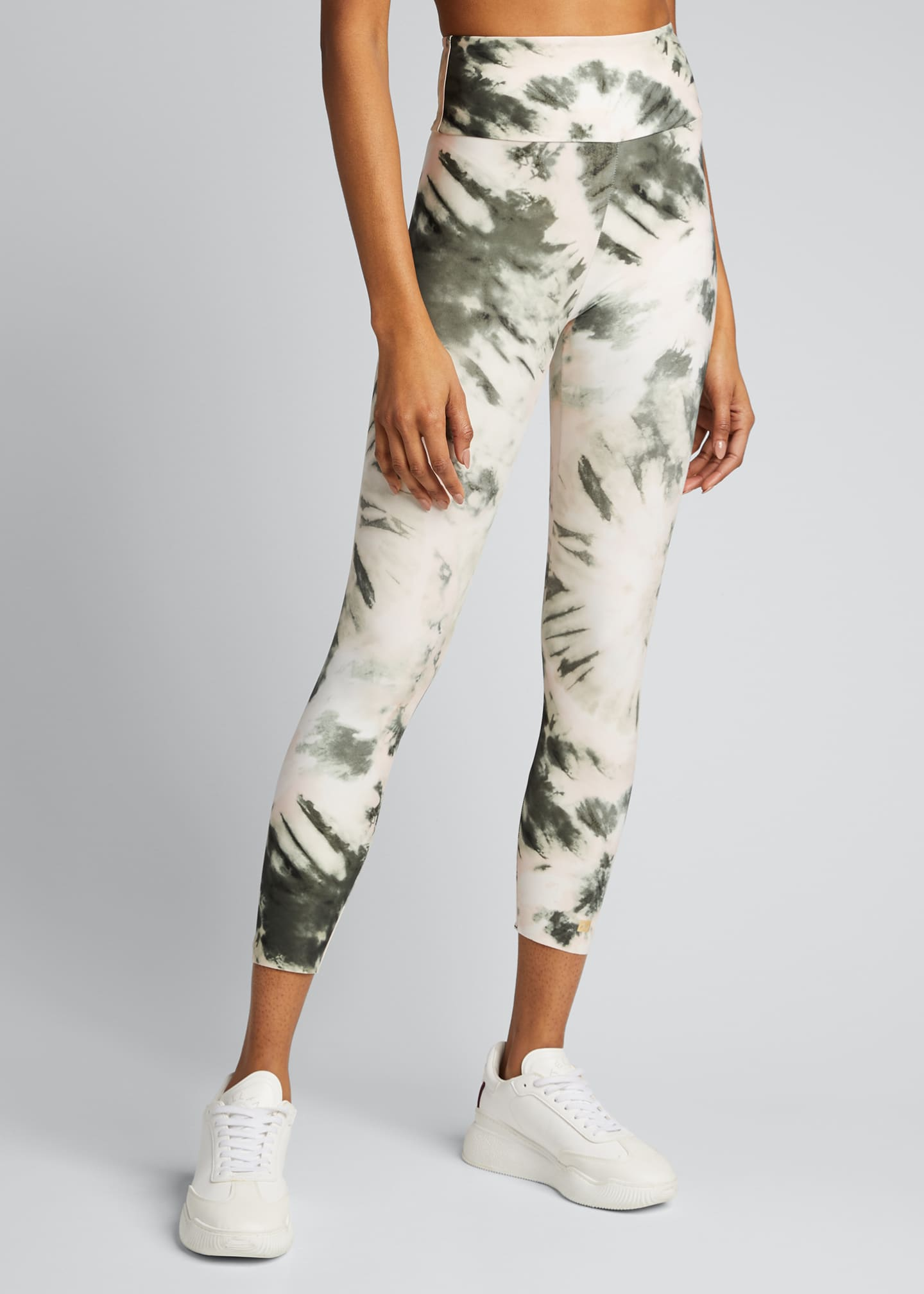 Image 3 of 5: Nebula Tie-Dye High-Waist Active Leggings
