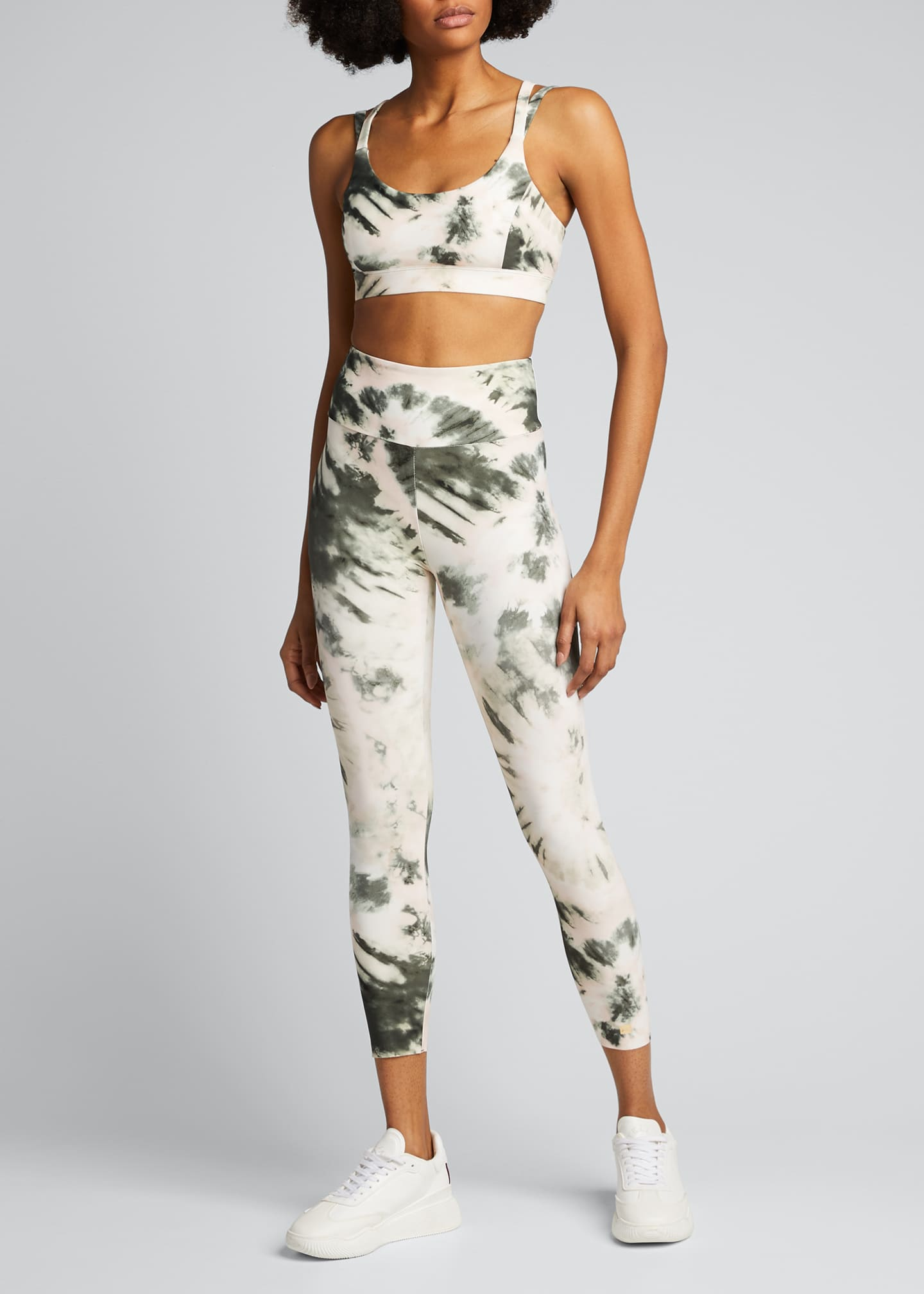 Image 1 of 5: Nebula Tie-Dye High-Waist Active Leggings