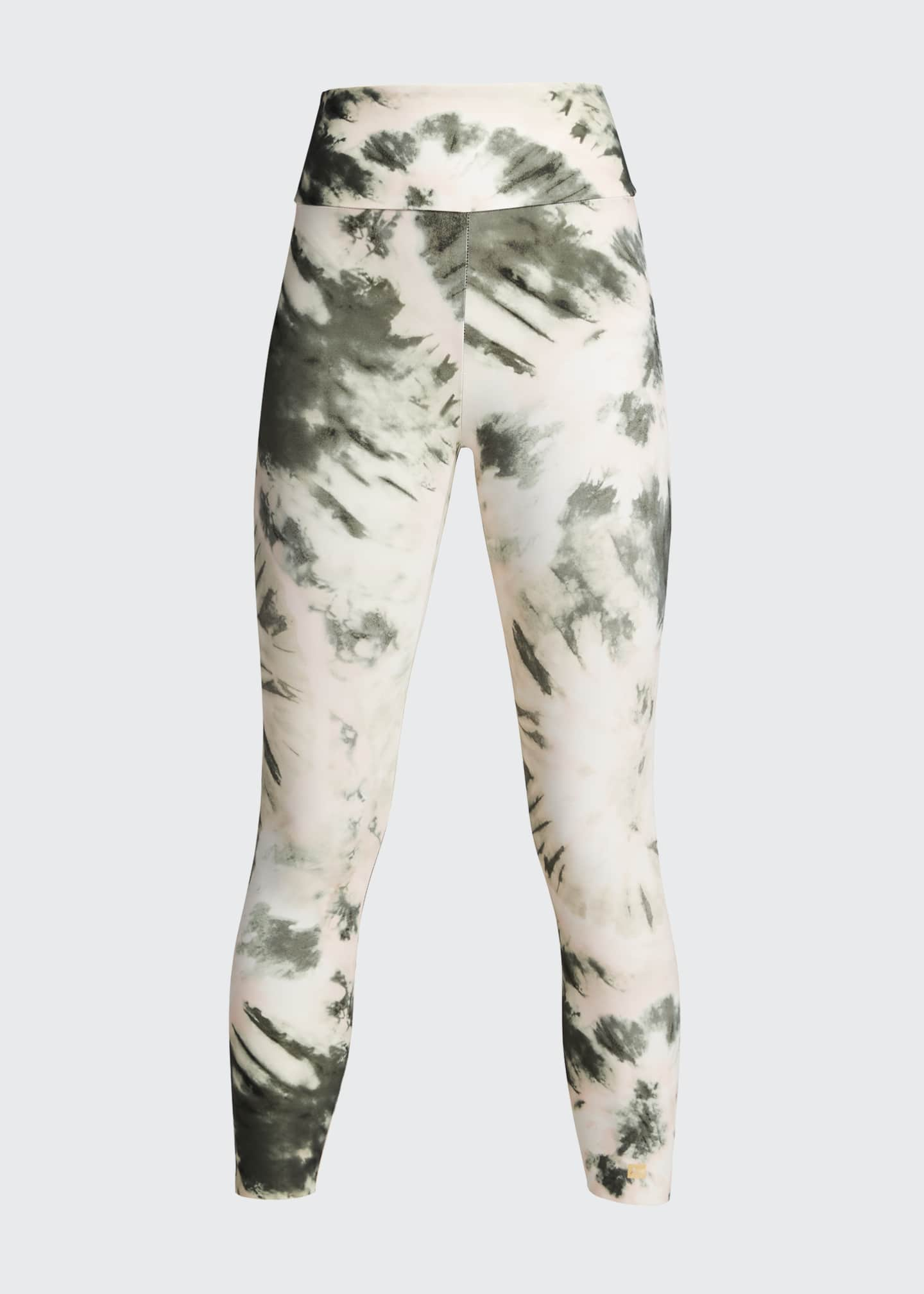 Image 5 of 5: Nebula Tie-Dye High-Waist Active Leggings