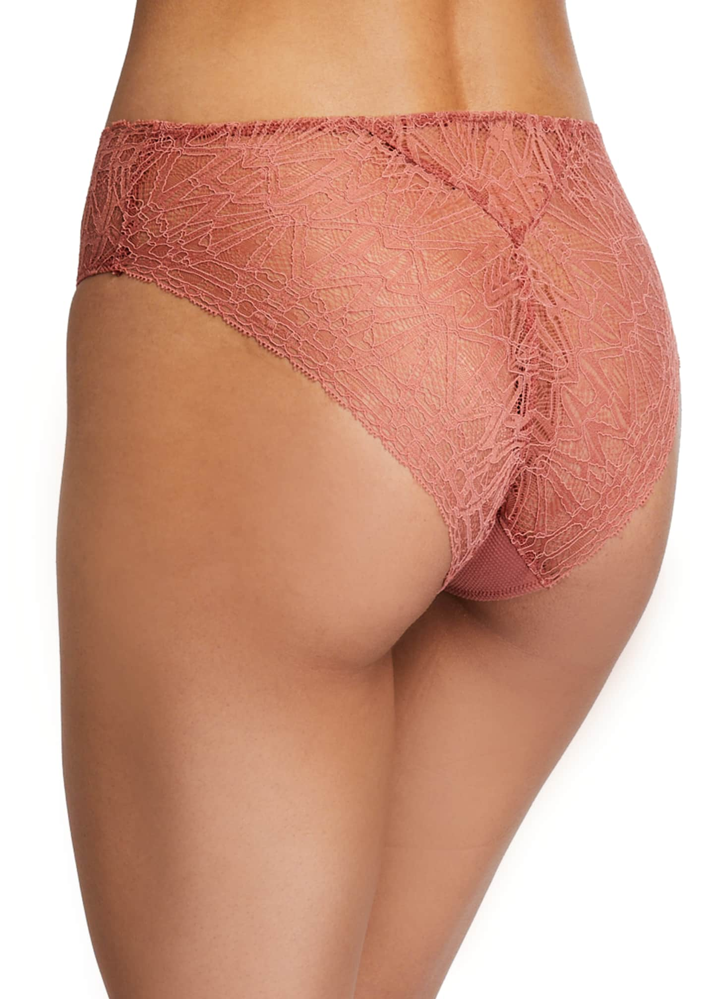 Image 2 of 2: Imani High-Cut Lace Briefs