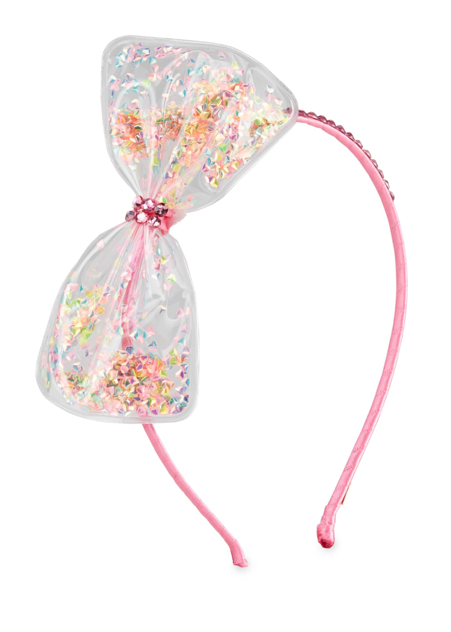 Image 1 of 1: Girl's Bow w/ Confetti Headband