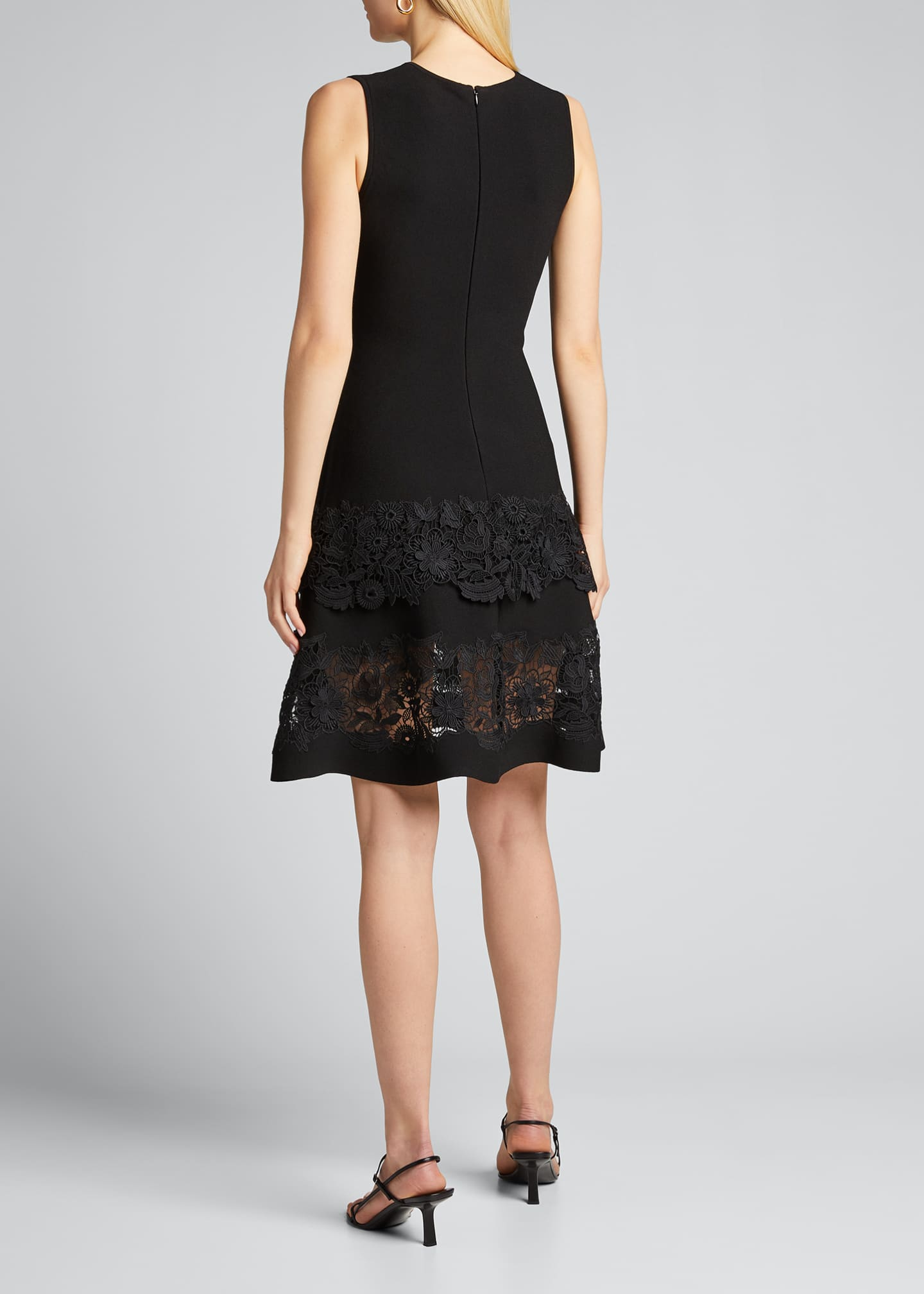Image 2 of 5: Sleeveless Guipure Lace Fit-&-Flare Dress
