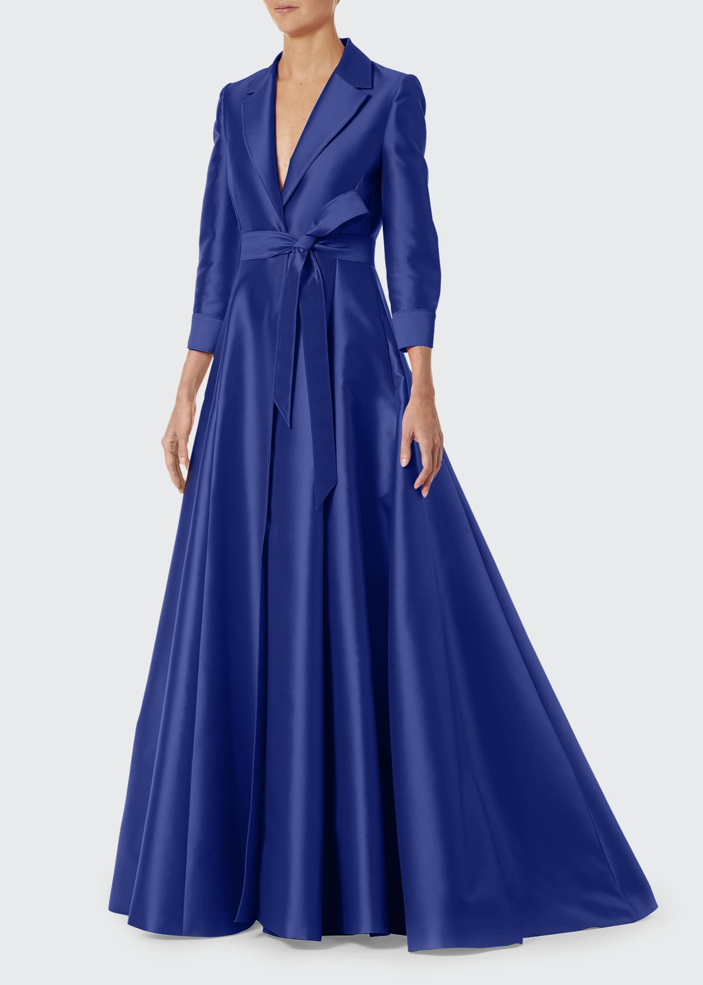 Image 3 of 3: 3/4-Sleeve Suit Gown