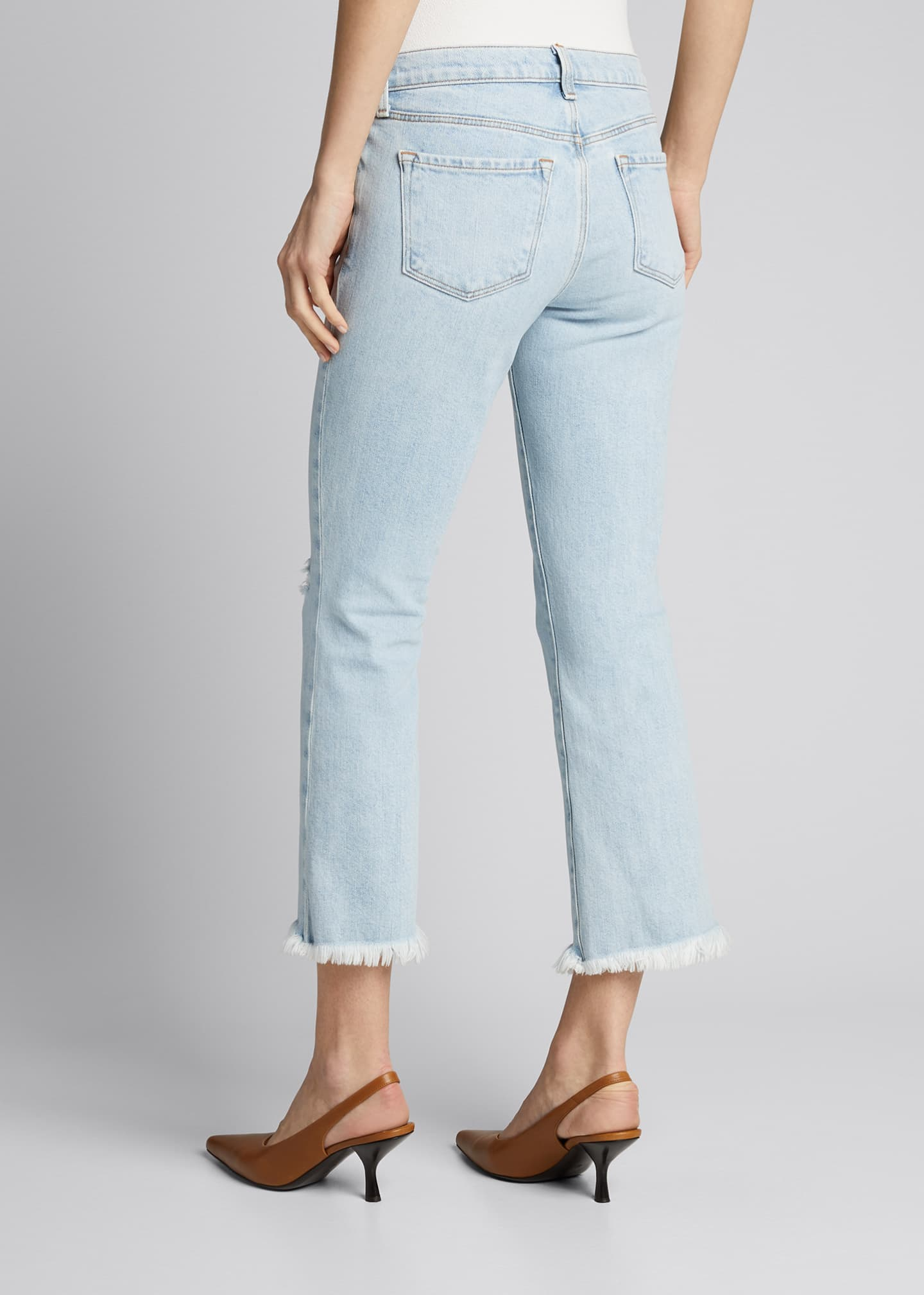 Image 2 of 4: Selena Mid-Rise Cropped Boot-Cut Jeans